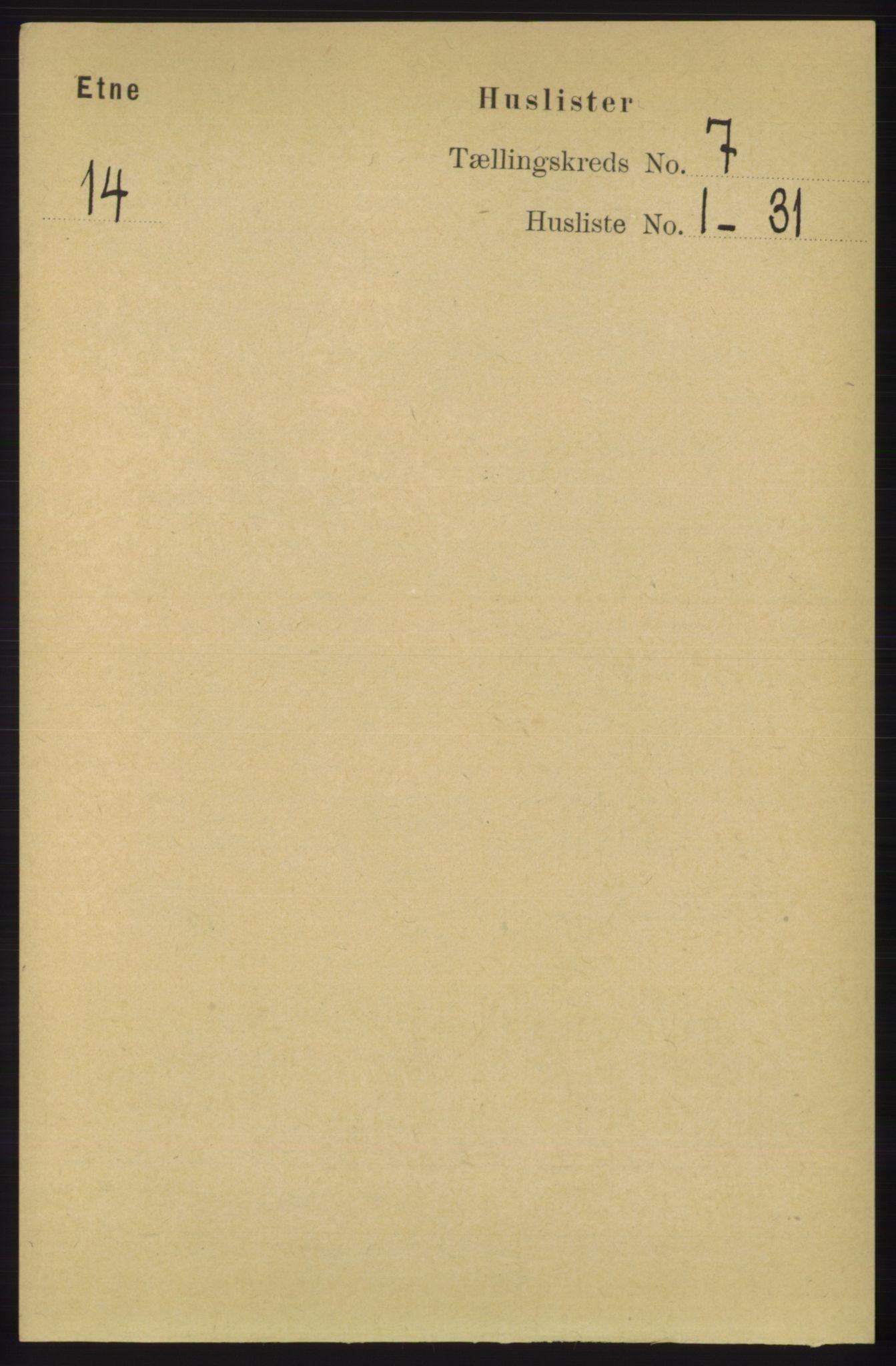 RA, Folketelling 1891 for 1211 Etne herred, 1891, s. 1359