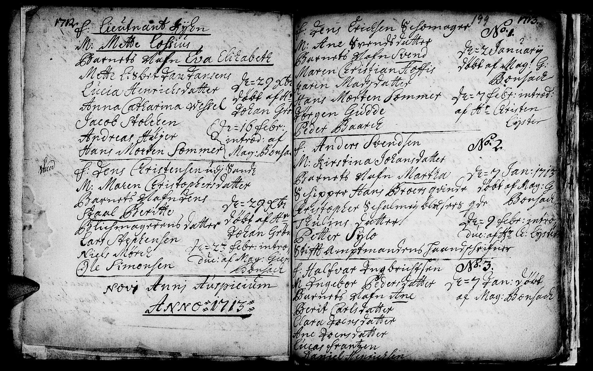 SAT, Ministerialprotokoller, klokkerbøker og fødselsregistre - Sør-Trøndelag, 601/L0034: Ministerialbok nr. 601A02, 1702-1714, s. 199
