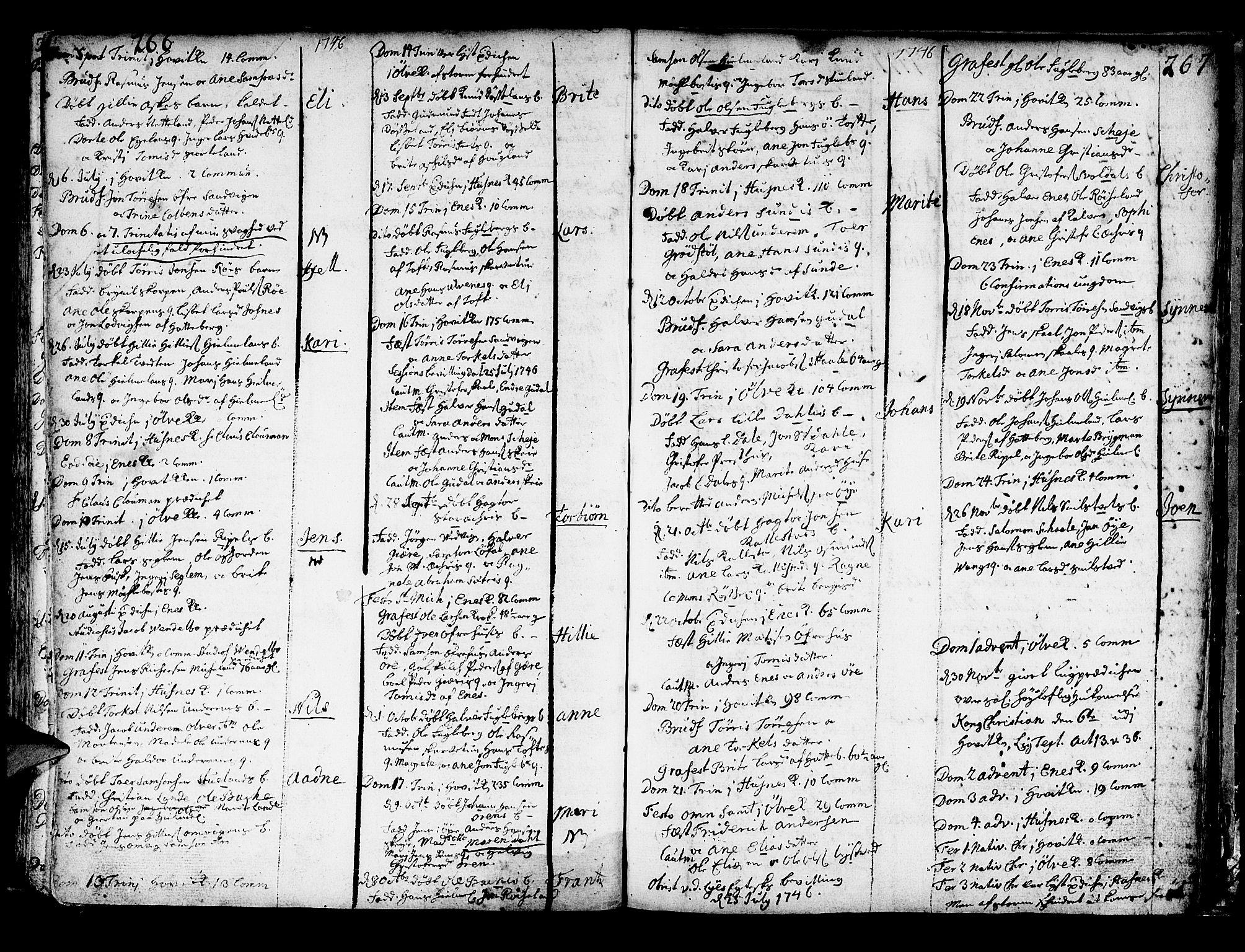 SAB, Kvinnherad Sokneprestembete, H/Haa: Ministerialbok nr. A 2, 1710-1753, s. 266-267
