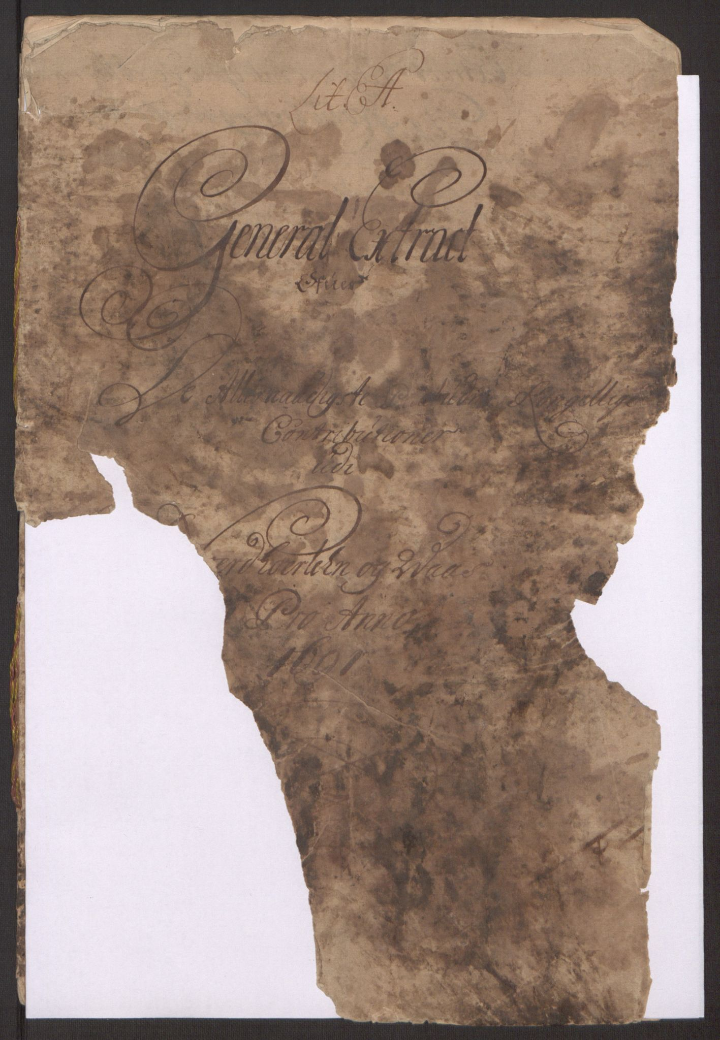 RA, Rentekammeret inntil 1814, Reviderte regnskaper, Fogderegnskap, R51/L3181: Fogderegnskap Nordhordland og Voss, 1691-1692, s. 3