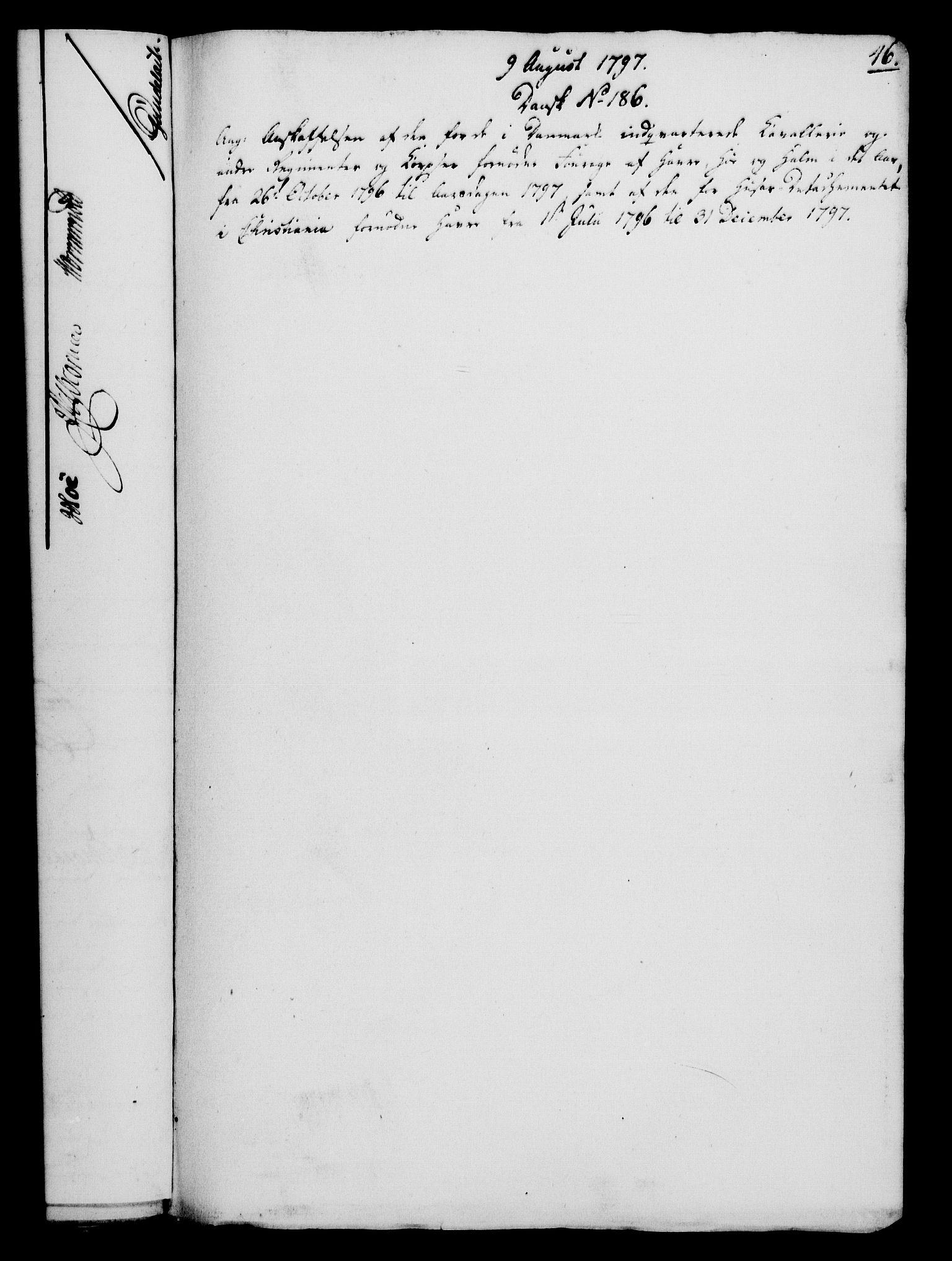 RA, Rentekammeret, Kammerkanselliet, G/Gf/Gfa/L0079: Norsk relasjons- og resolusjonsprotokoll (merket RK 52.79), 1797, s. 249