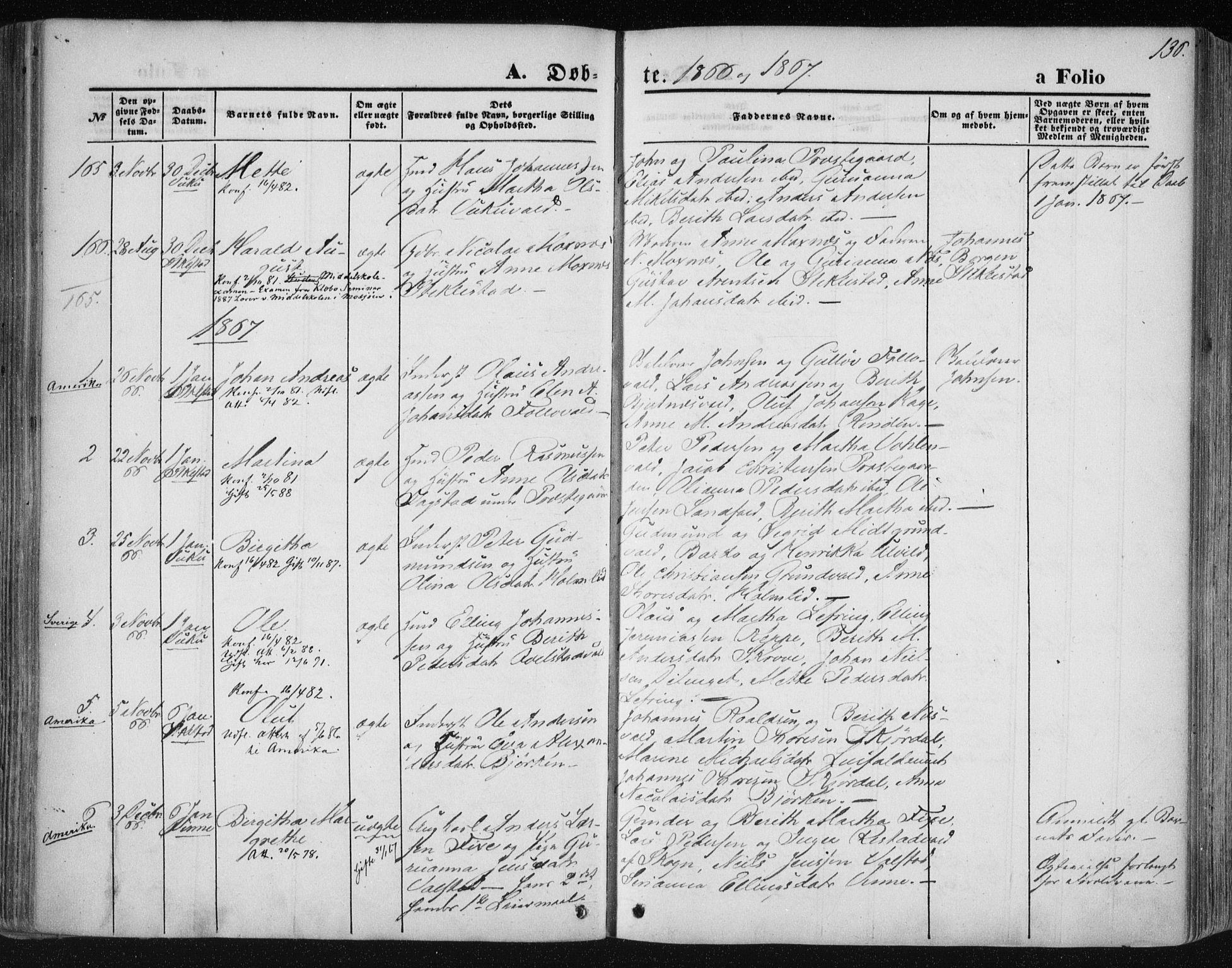 SAT, Ministerialprotokoller, klokkerbøker og fødselsregistre - Nord-Trøndelag, 723/L0241: Ministerialbok nr. 723A10, 1860-1869, s. 136