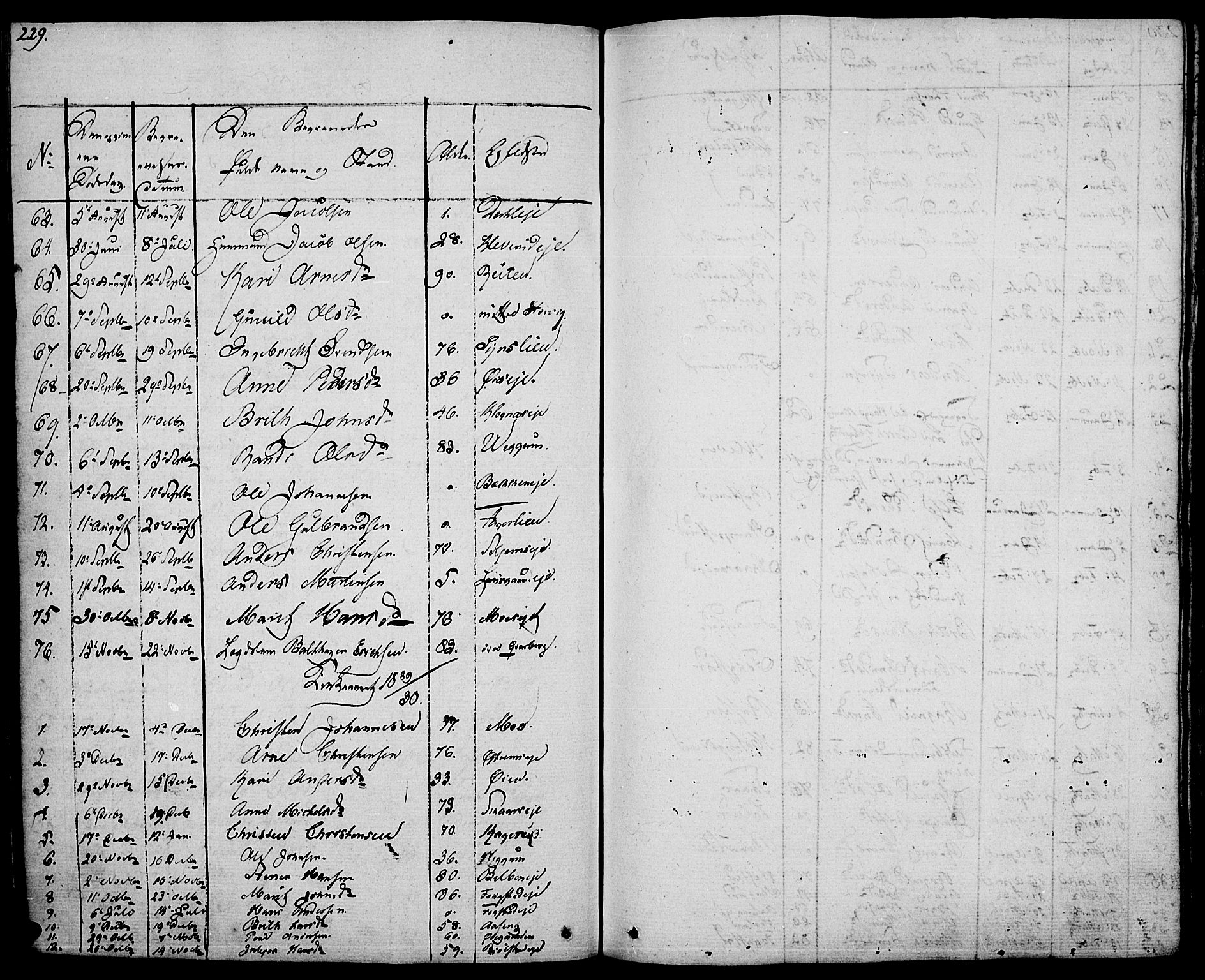 SAH, Vågå prestekontor, Ministerialbok nr. 4 /1, 1827-1842, s. 229