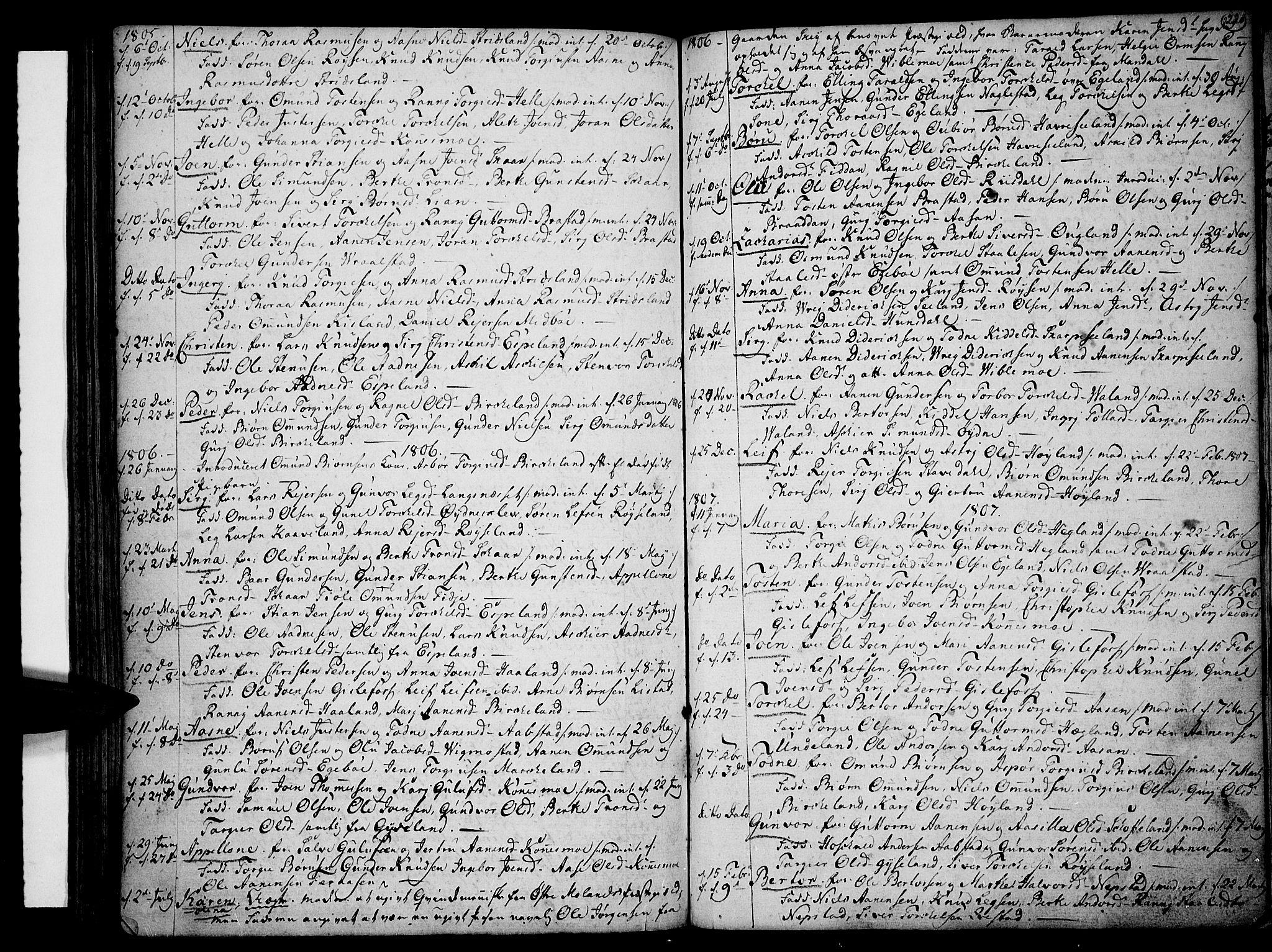 SAK, Sør-Audnedal sokneprestkontor, F/Fa/Fab/L0002: Ministerialbok nr. A 2 /4, 1768-1814, s. 220
