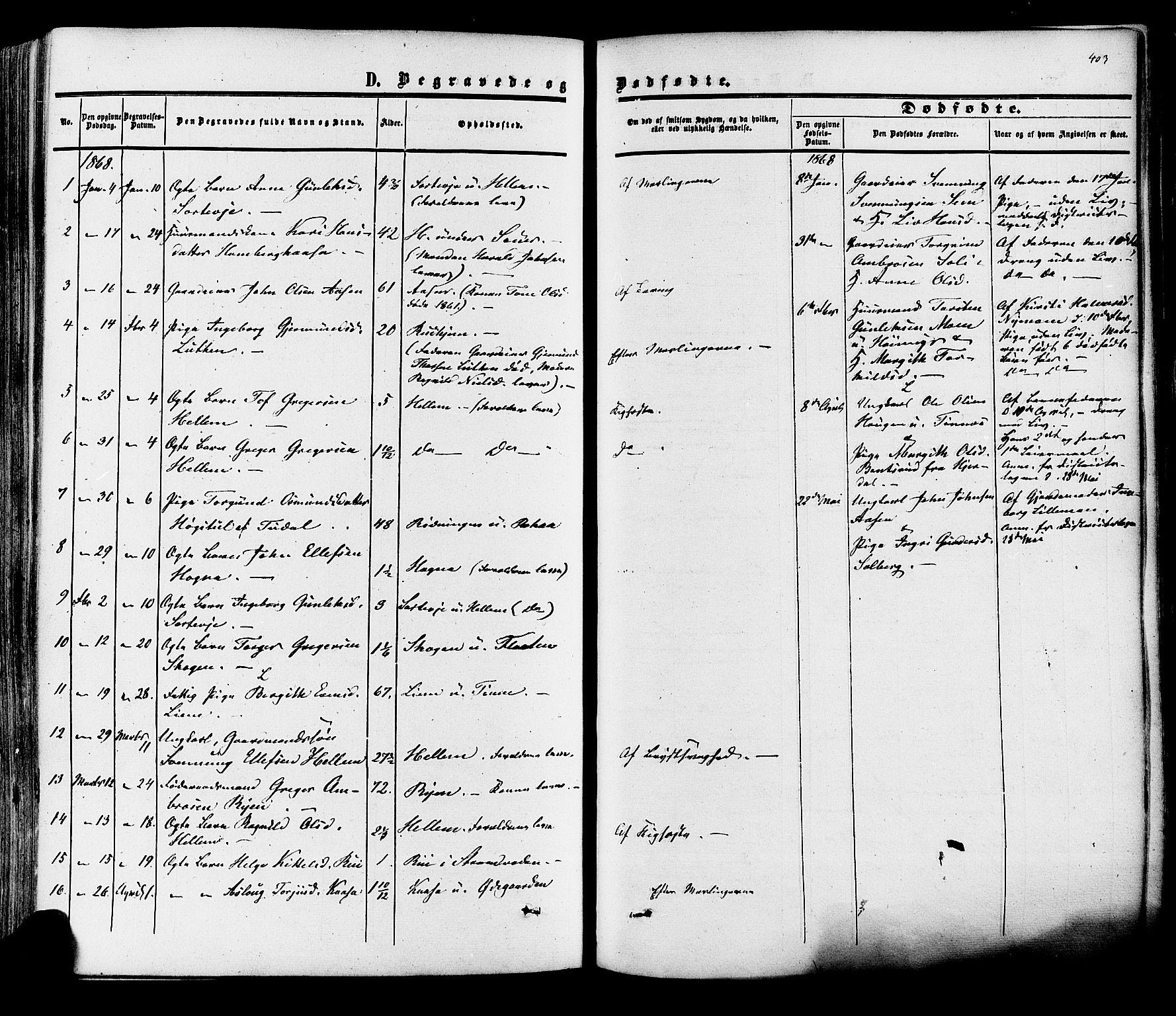 SAKO, Heddal kirkebøker, F/Fa/L0007: Ministerialbok nr. I 7, 1855-1877, s. 403