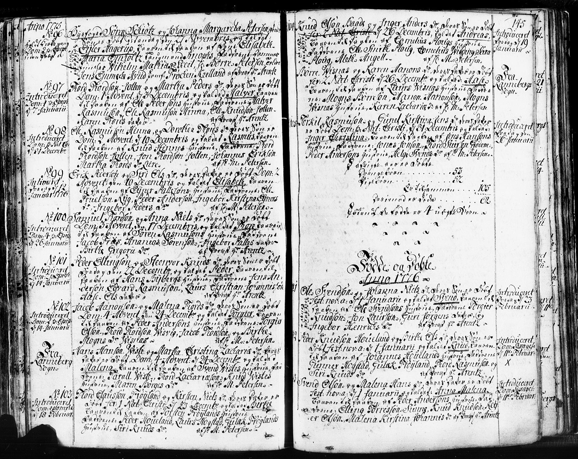 SAST, Domkirken sokneprestkontor, 30/30BB/L0004: Klokkerbok nr. B 4, 1752-1790, s. 145