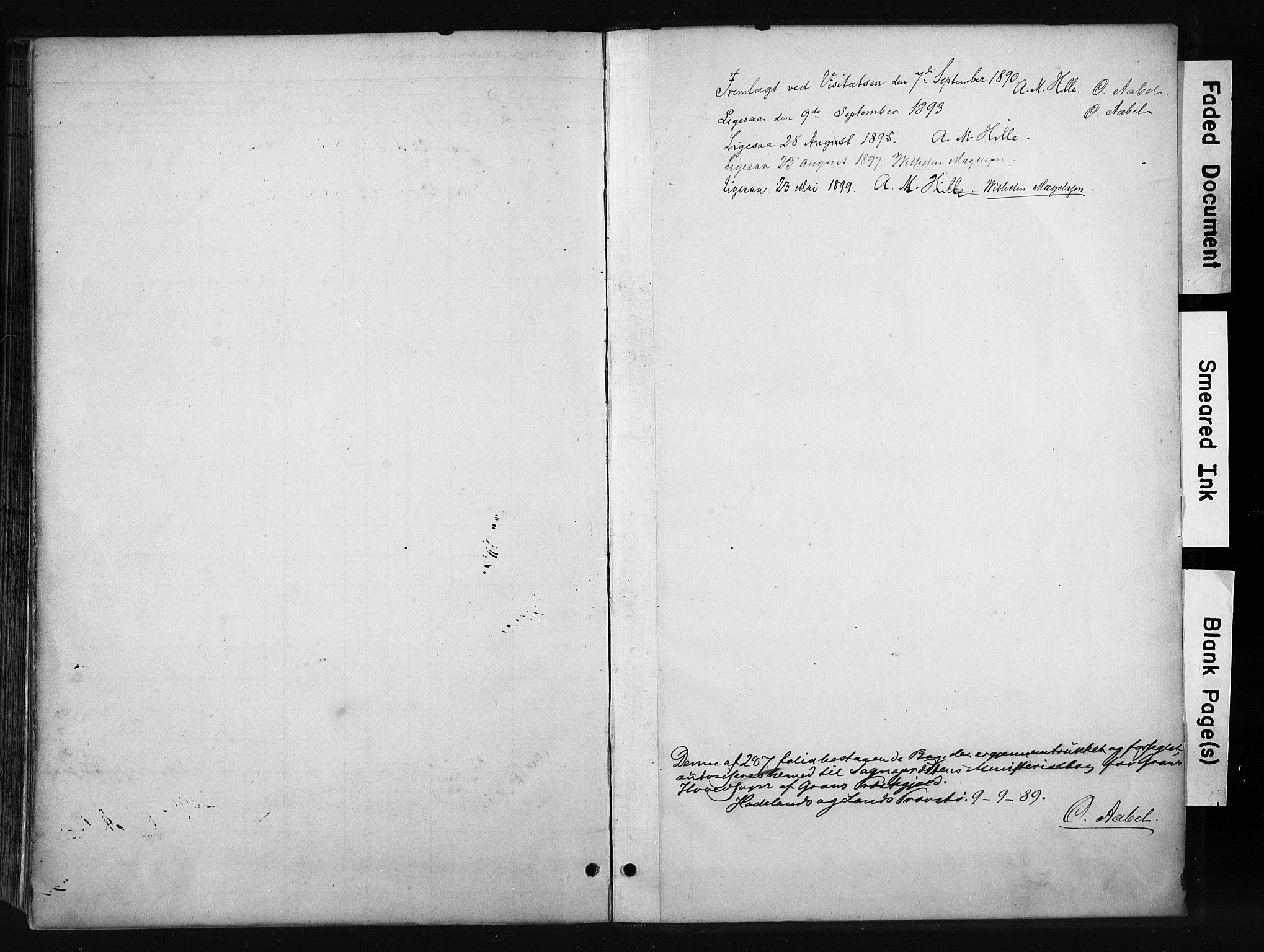 SAH, Gran prestekontor, Ministerialbok nr. 17, 1889-1897, s. 267