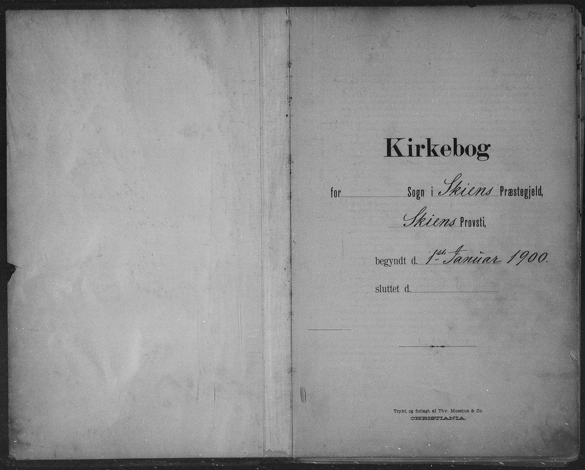 SAKO, Skien kirkebøker, F/Fa/L0011: Ministerialbok nr. 11, 1900-1907