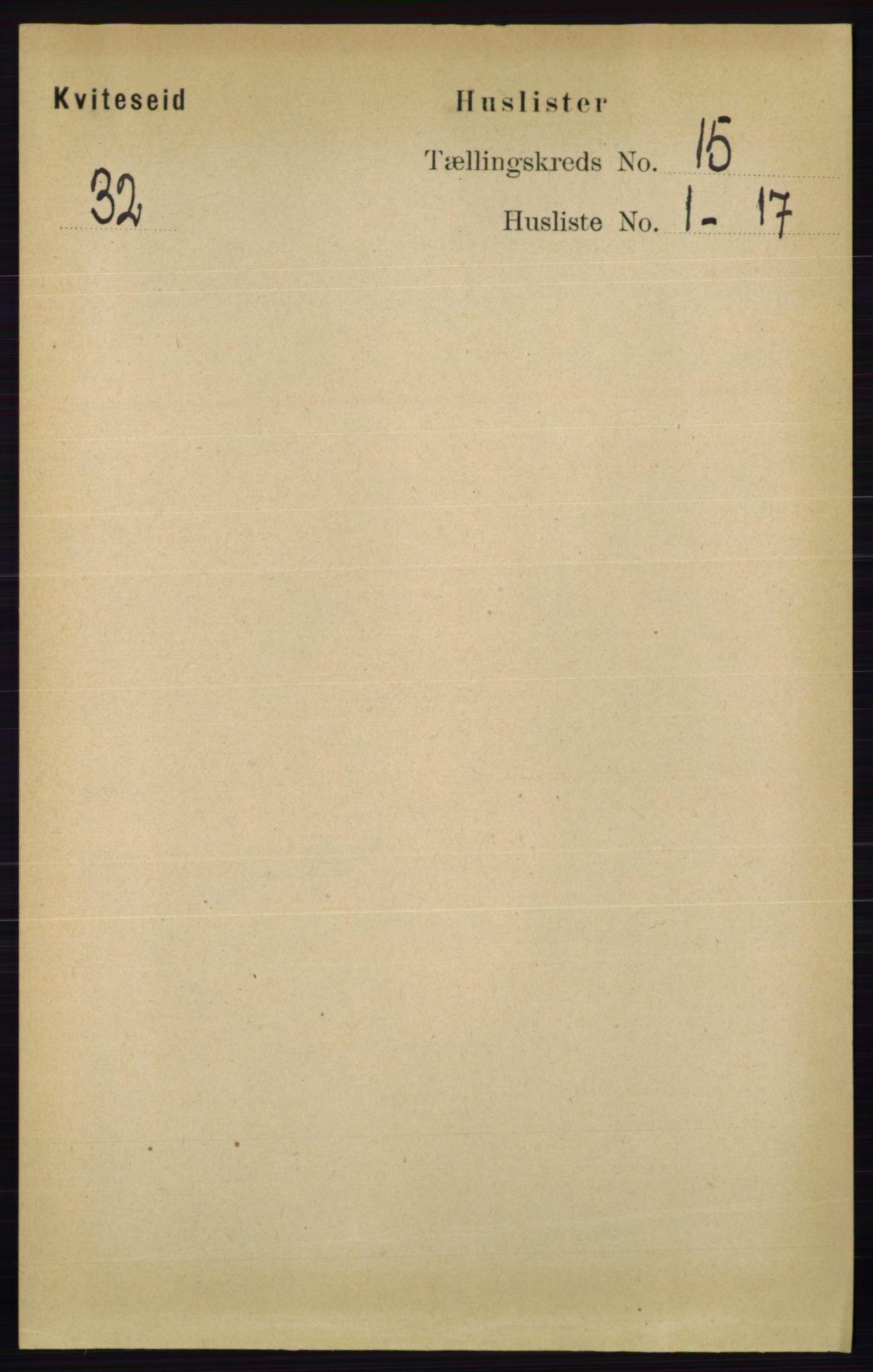 RA, Folketelling 1891 for 0829 Kviteseid herred, 1891, s. 3501