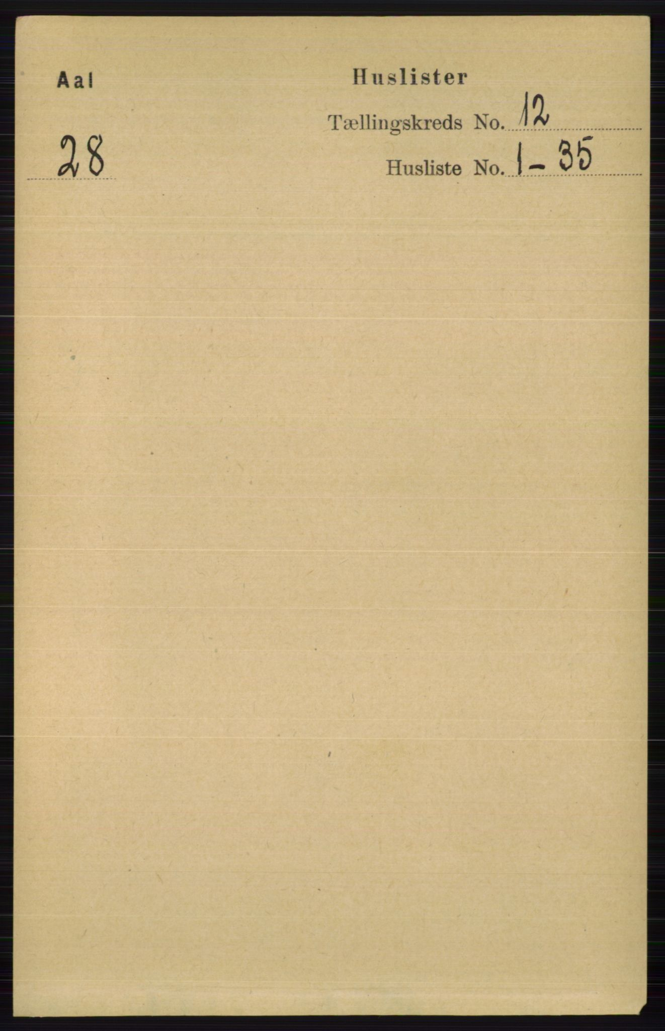RA, Folketelling 1891 for 0619 Ål herred, 1891, s. 2969