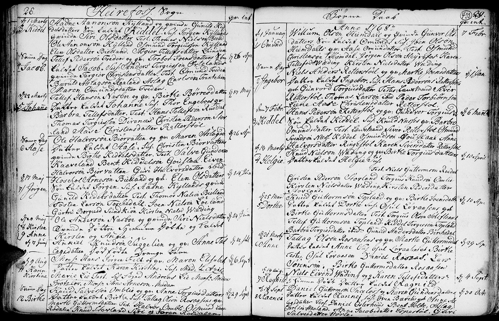 SAK, Hommedal sokneprestkontor, F/Fa/Fab/L0002: Ministerialbok nr. A 2 /3, 1740-1821, s. 433
