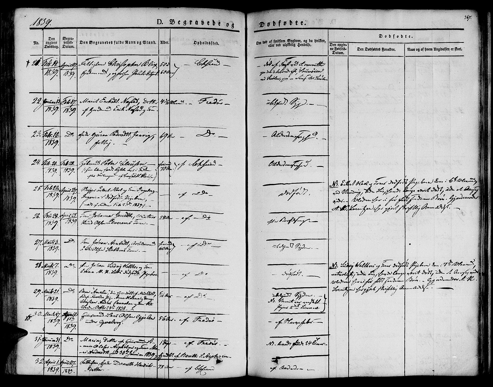 SAT, Ministerialprotokoller, klokkerbøker og fødselsregistre - Møre og Romsdal, 572/L0843: Ministerialbok nr. 572A06, 1832-1842, s. 367