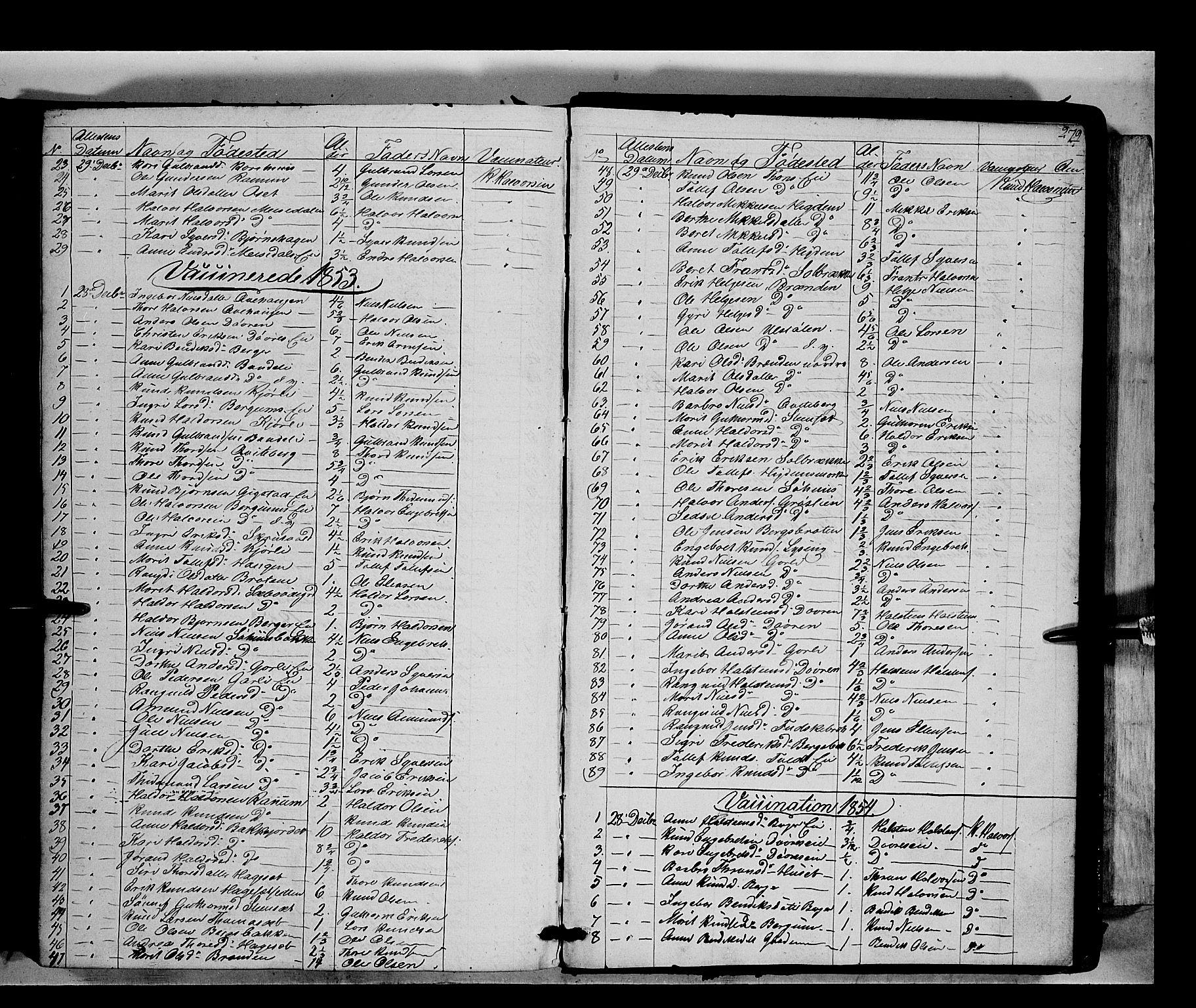 SAH, Nord-Aurdal prestekontor, Ministerialbok nr. 7, 1842-1863, s. 279