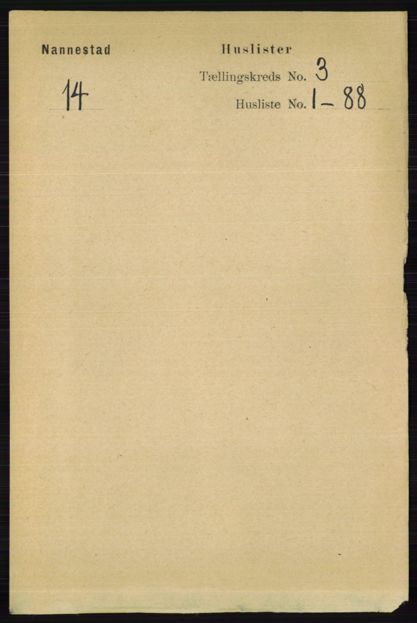 RA, Folketelling 1891 for 0238 Nannestad herred, 1891, s. 1374