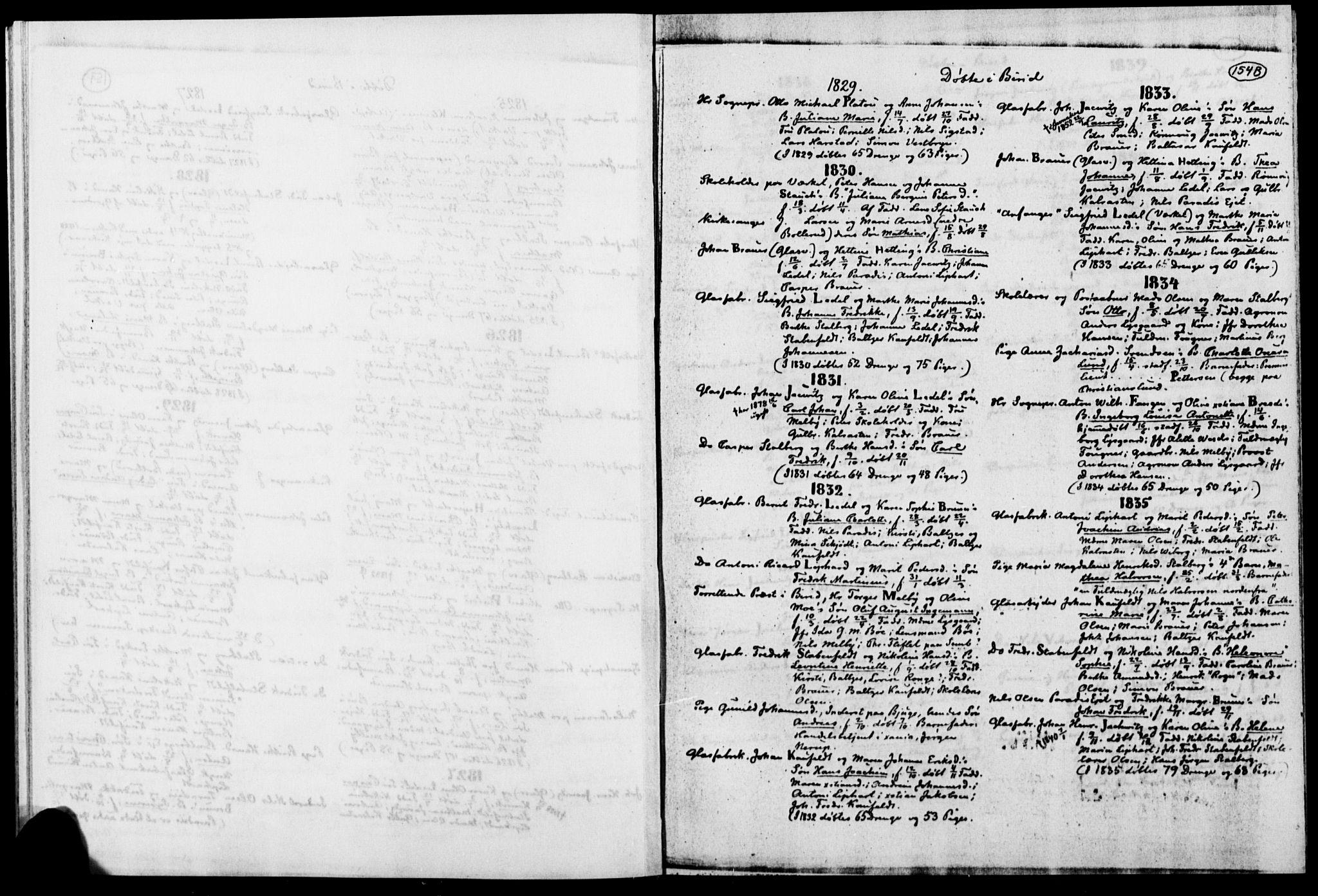 SAH, Biri prestekontor, Ministerialbok, 1730-1879, s. 154b