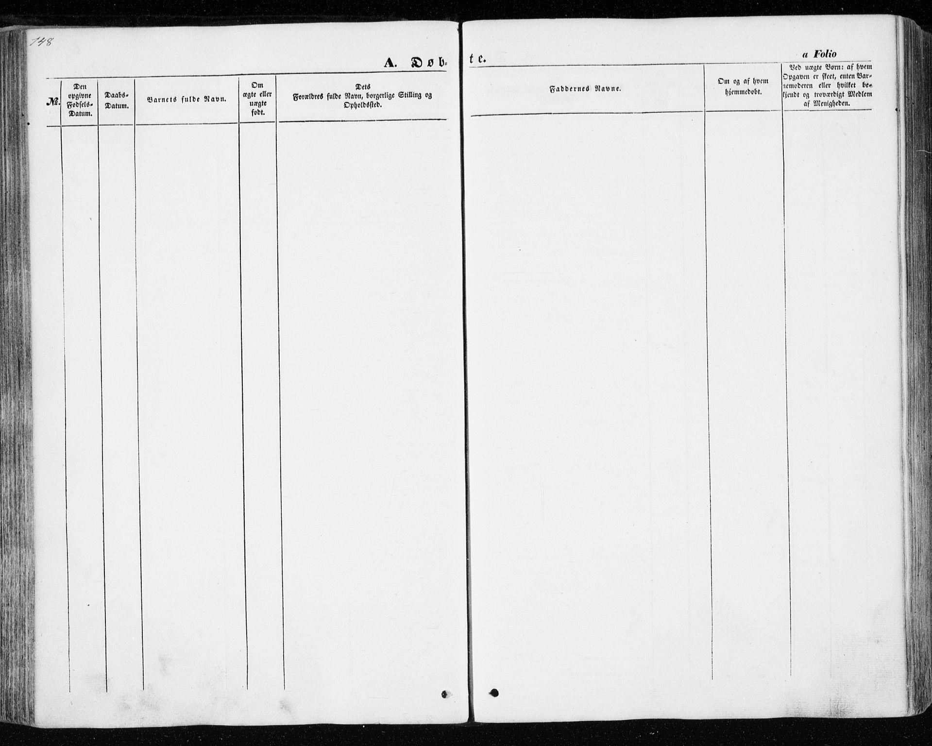 SAT, Ministerialprotokoller, klokkerbøker og fødselsregistre - Nord-Trøndelag, 701/L0008: Ministerialbok nr. 701A08 /2, 1854-1863, s. 148