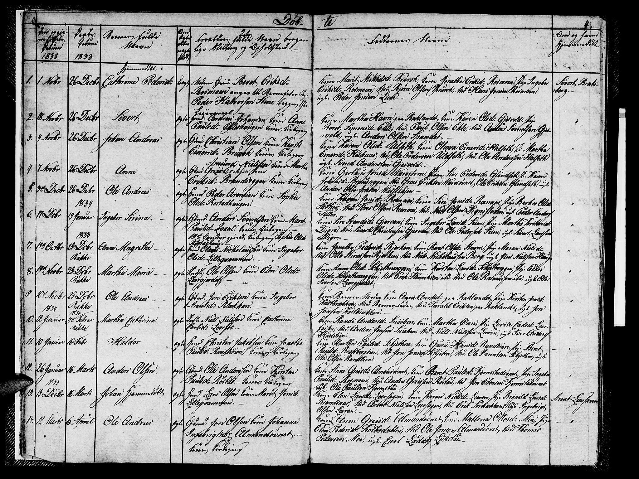 SAT, Ministerialprotokoller, klokkerbøker og fødselsregistre - Sør-Trøndelag, 608/L0338: Klokkerbok nr. 608C04, 1831-1843, s. 4