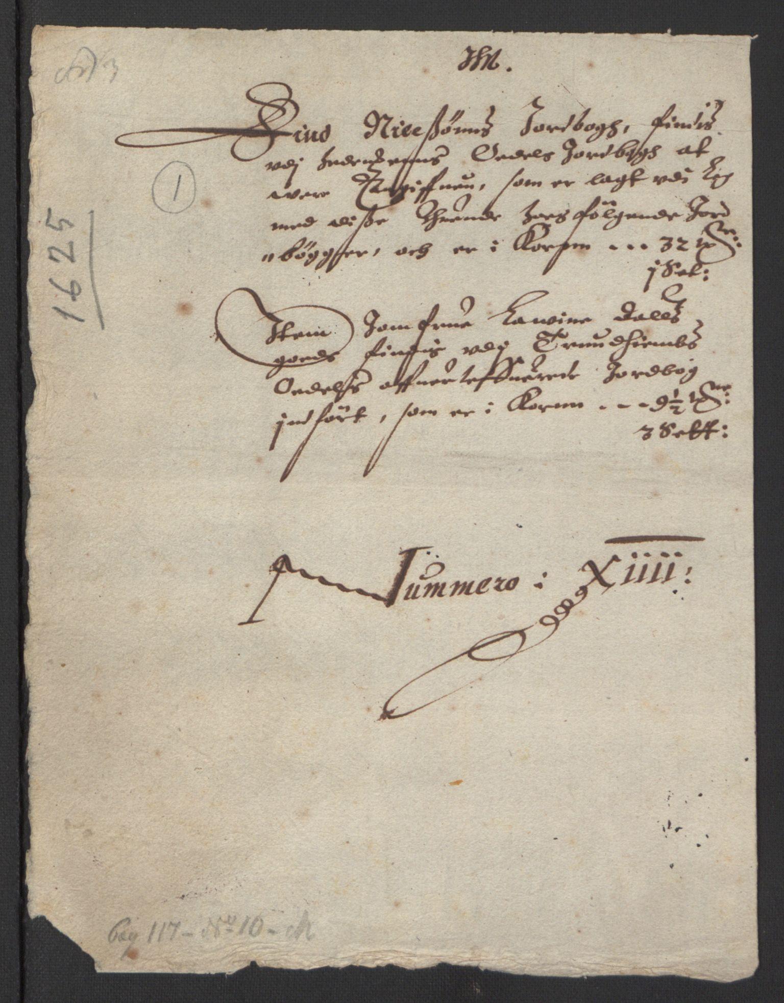 RA, Stattholderembetet 1572-1771, Ek/L0007: Jordebøker til utlikning av rosstjeneste 1624-1626:, 1624-1625, s. 317