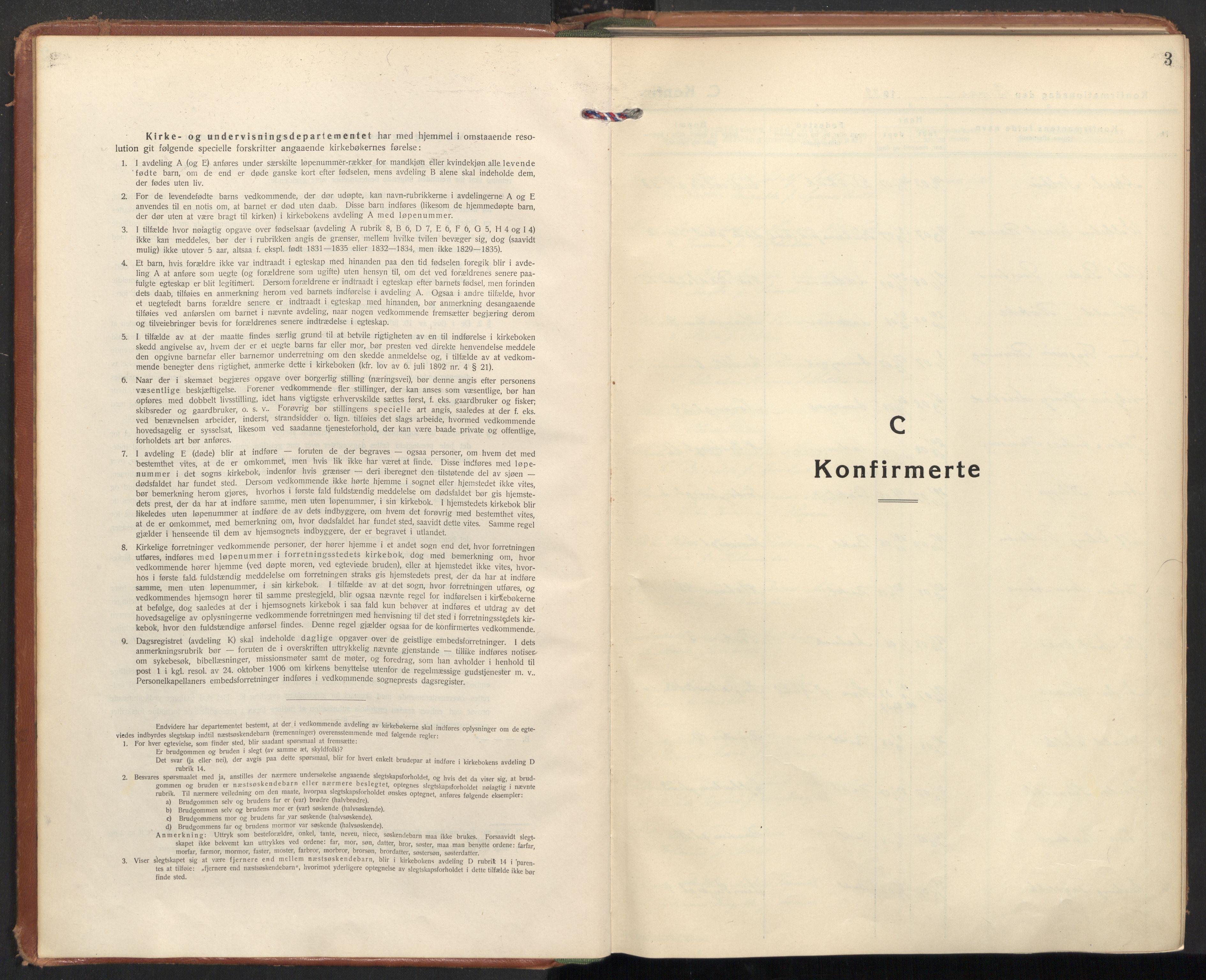 SAT, Ministerialprotokoller, klokkerbøker og fødselsregistre - Sør-Trøndelag, 604/L0208: Ministerialbok nr. 604A28, 1923-1937, s. 3