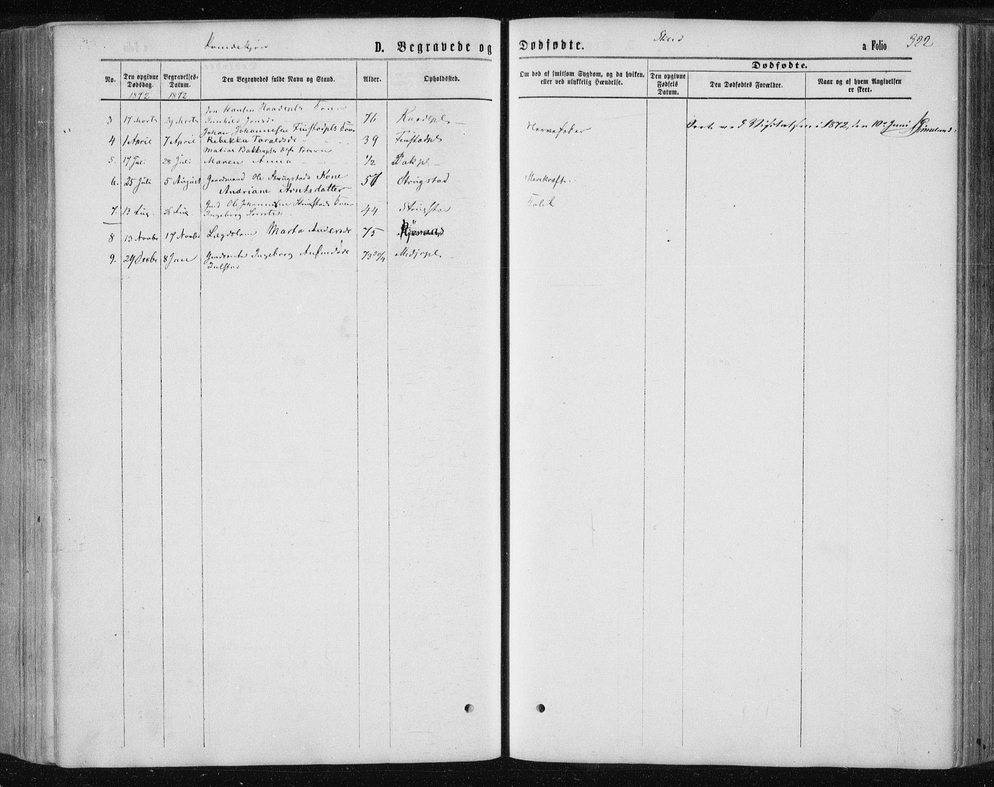 SAT, Ministerialprotokoller, klokkerbøker og fødselsregistre - Nord-Trøndelag, 735/L0345: Ministerialbok nr. 735A08 /2, 1863-1872, s. 322