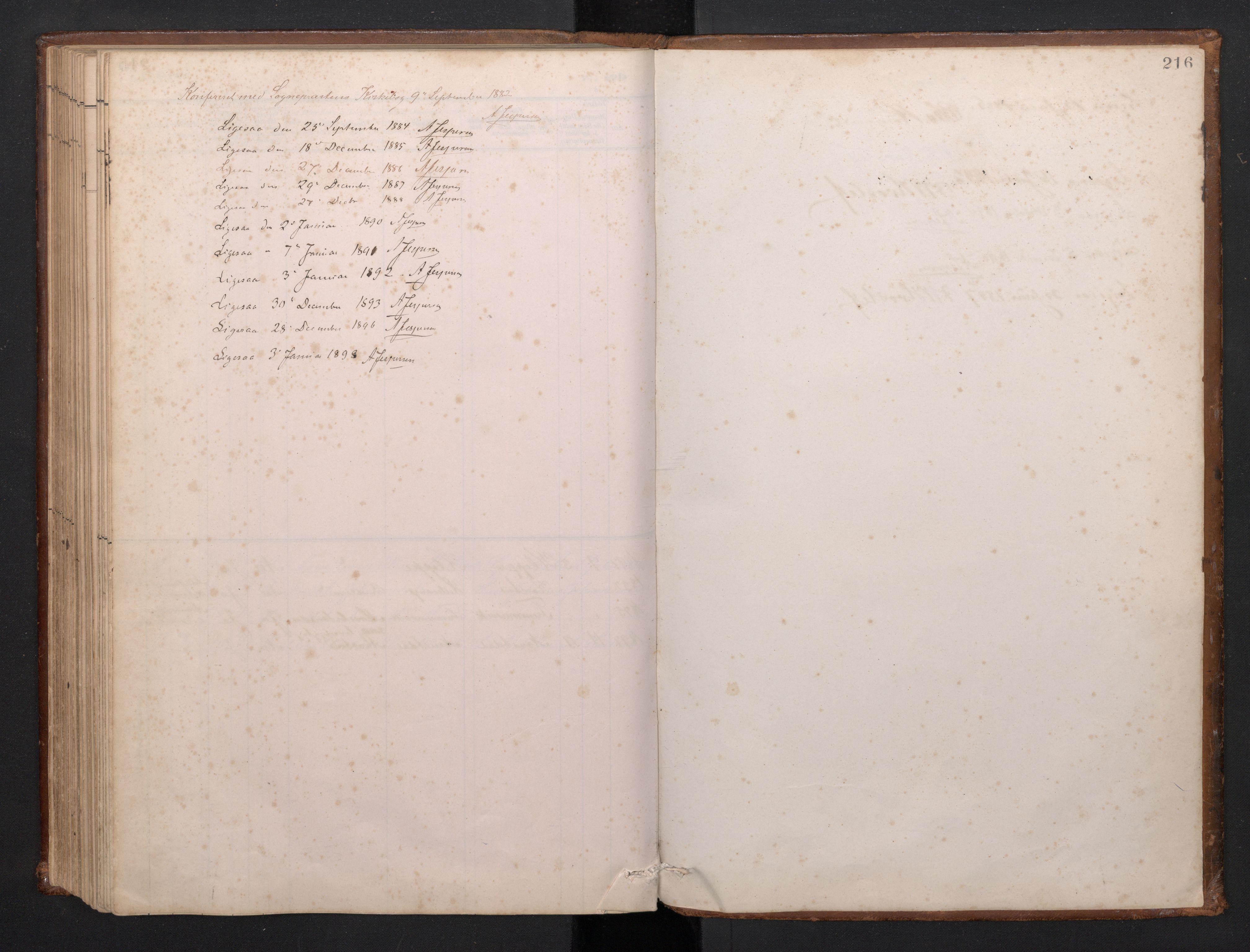 SAB, Førde Sokneprestembete, H/Hab: Klokkerbok nr. D 3, 1881-1897, s. 215b-216a