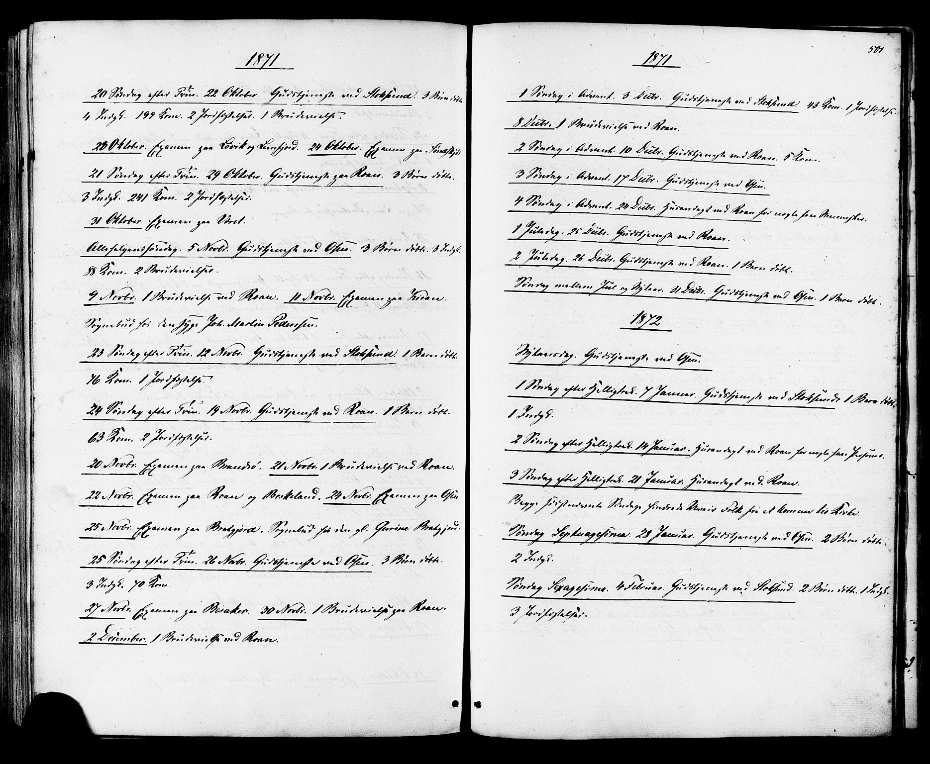 SAT, Ministerialprotokoller, klokkerbøker og fødselsregistre - Sør-Trøndelag, 657/L0706: Ministerialbok nr. 657A07, 1867-1878, s. 501