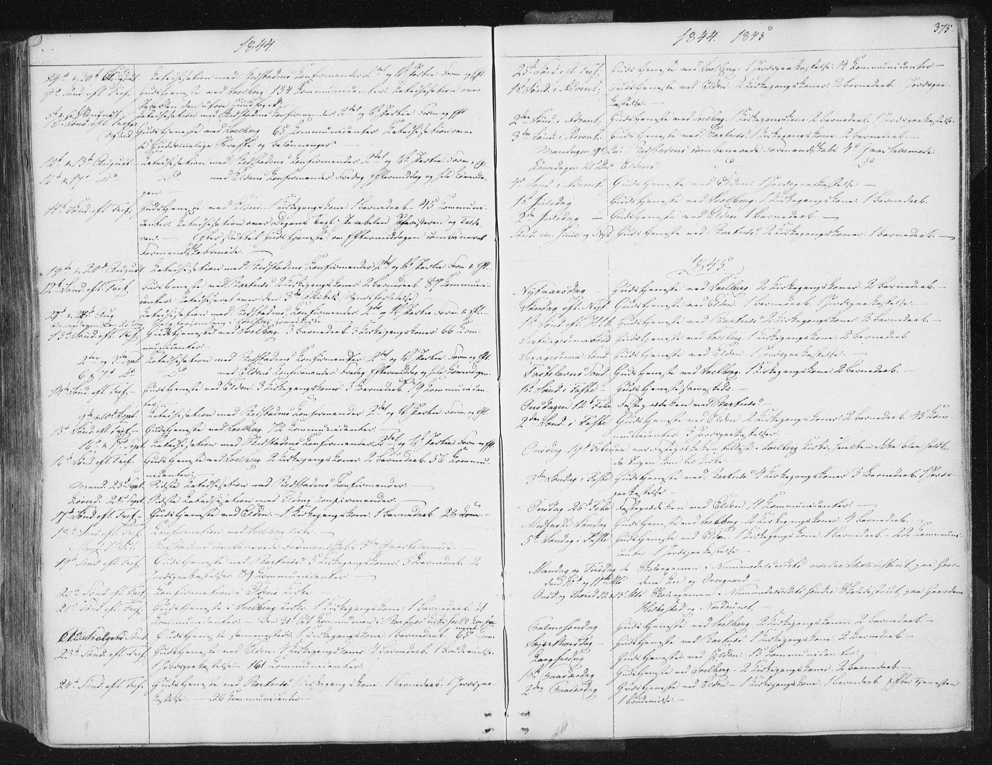 SAT, Ministerialprotokoller, klokkerbøker og fødselsregistre - Nord-Trøndelag, 741/L0392: Ministerialbok nr. 741A06, 1836-1848, s. 375