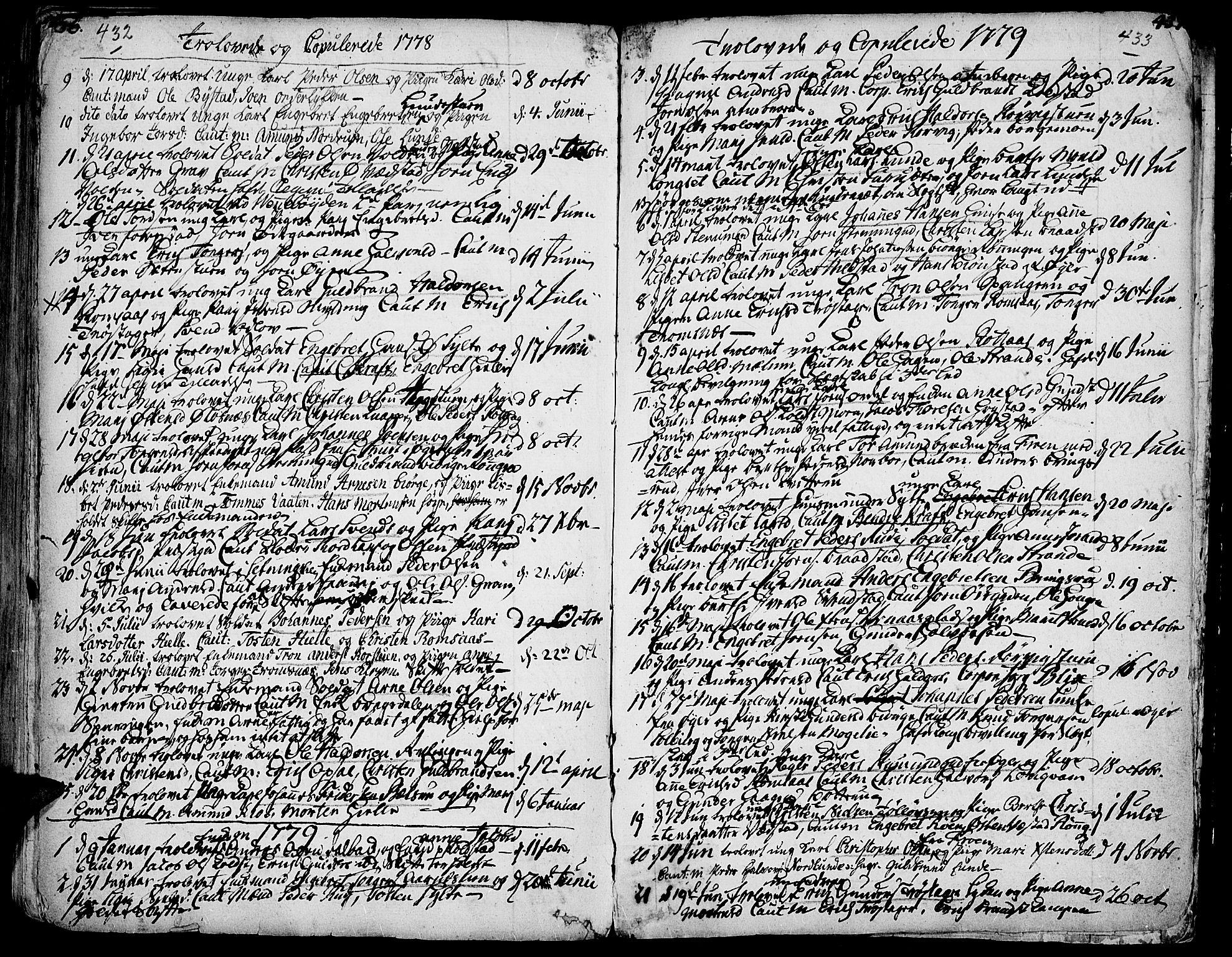 SAH, Ringebu prestekontor, Ministerialbok nr. 2, 1734-1780, s. 432-433