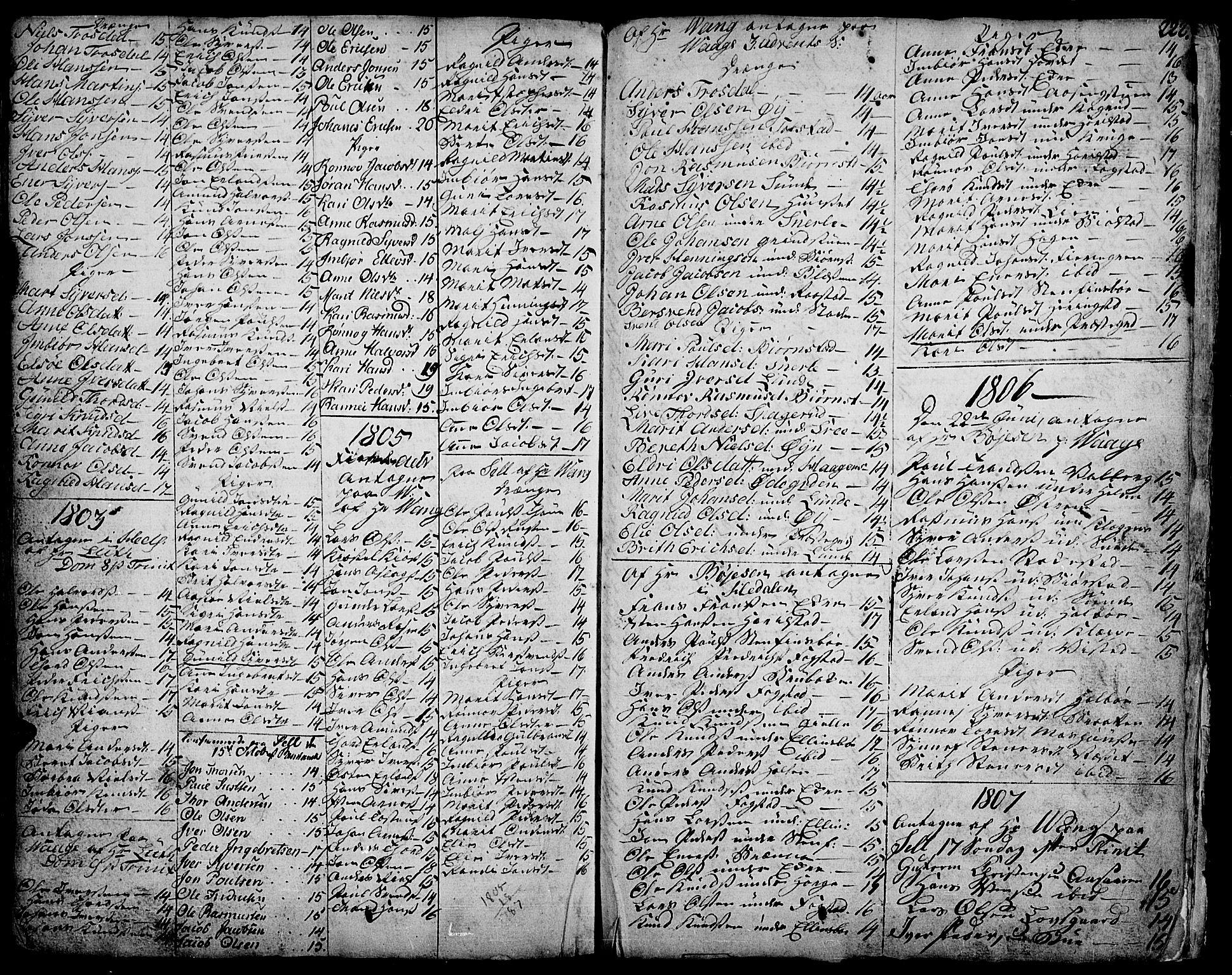 SAH, Vågå prestekontor, Ministerialbok nr. 1, 1739-1810, s. 222