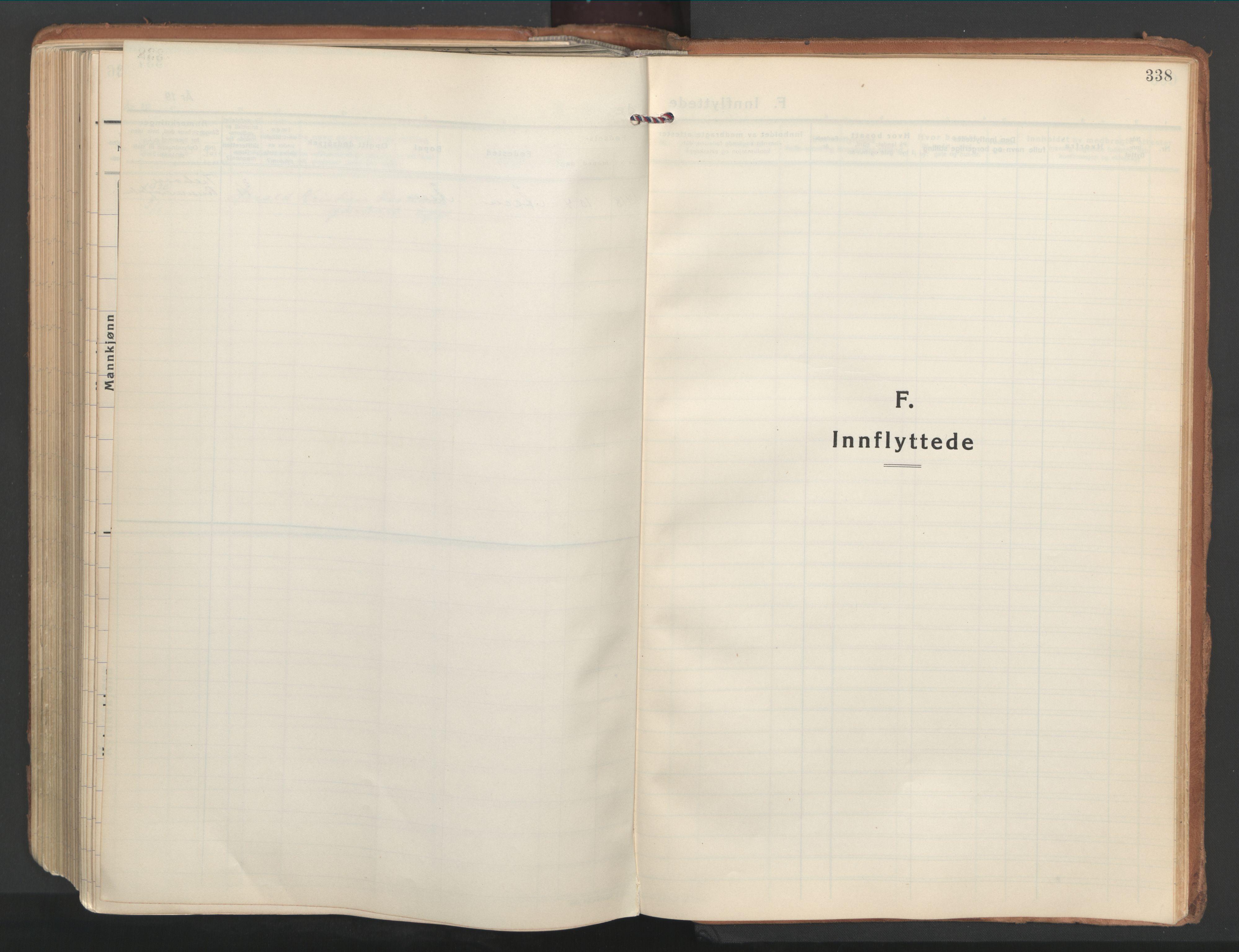 SAT, Ministerialprotokoller, klokkerbøker og fødselsregistre - Nordland, 802/L0061: Ministerialbok nr. 802A08, 1933-1946, s. 338