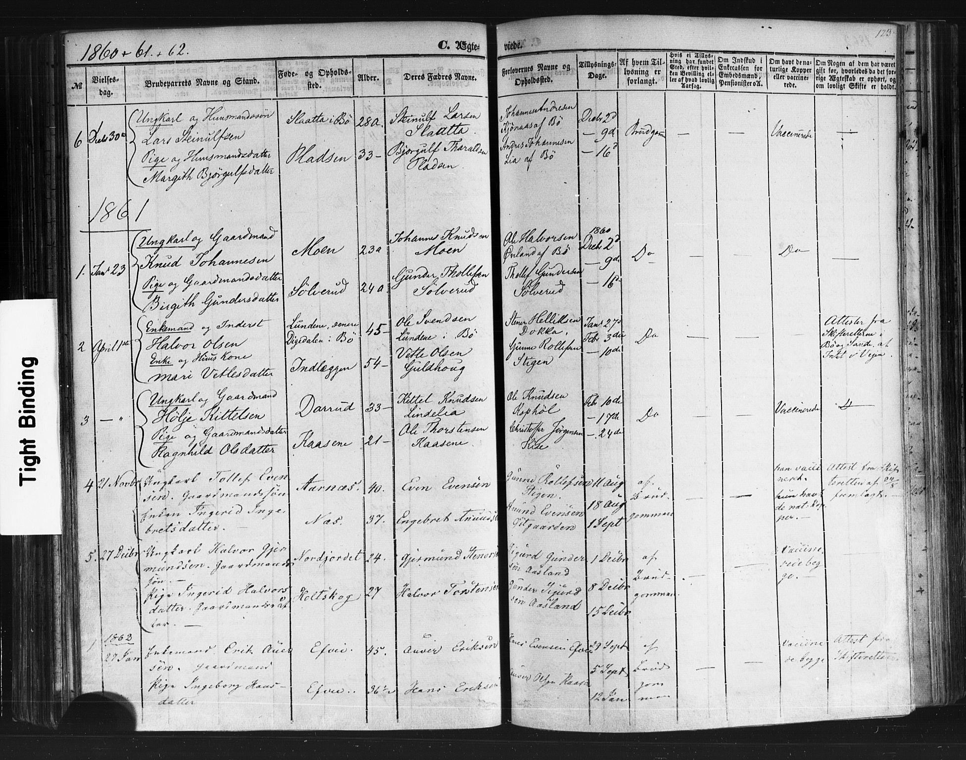 SAKO, Sauherad kirkebøker, F/Fb/L0001: Ministerialbok nr. II 1, 1851-1877, s. 123