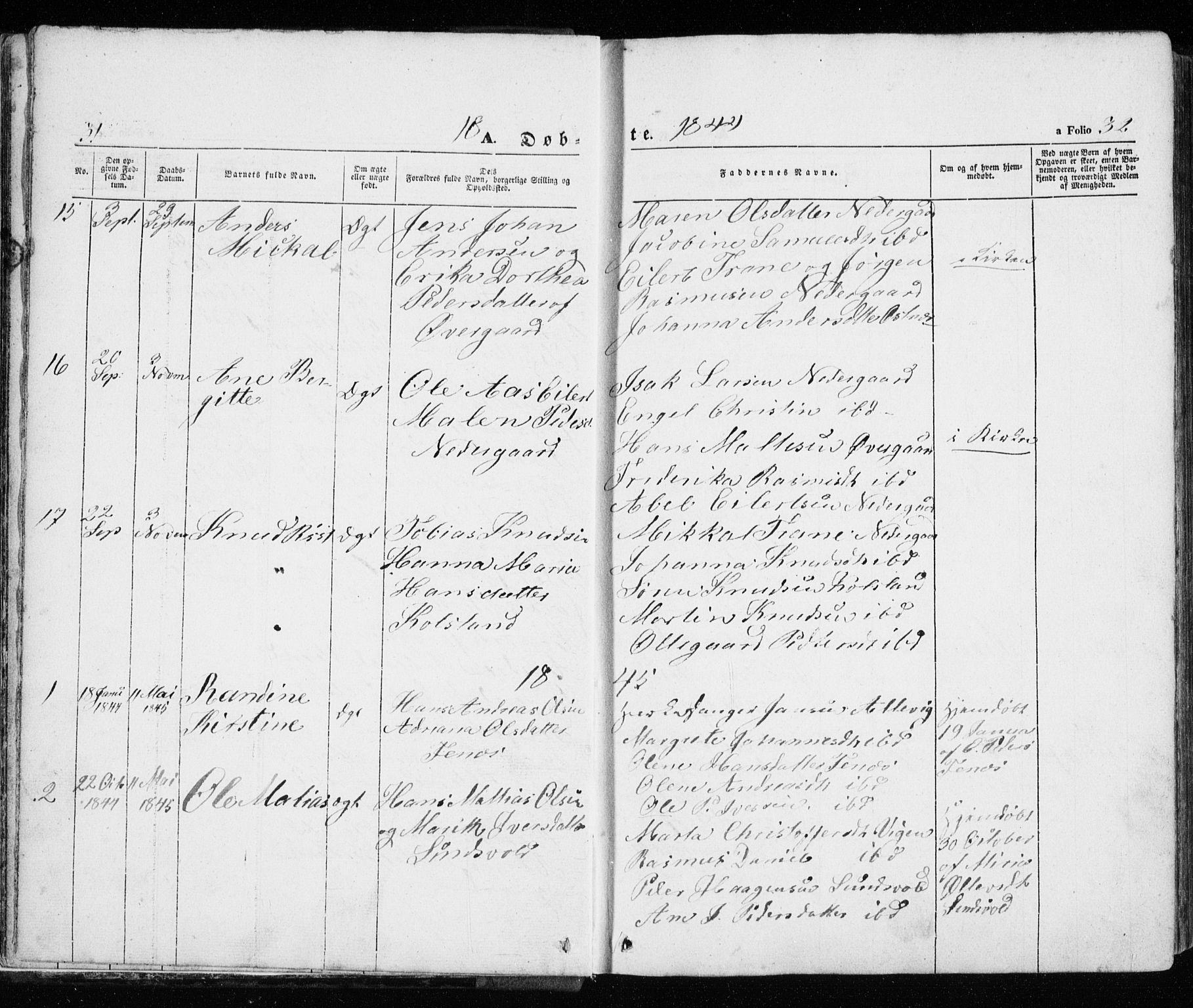 SATØ, Trondenes sokneprestkontor, H/Ha/L0010kirke: Ministerialbok nr. 10, 1840-1865, s. 31-32