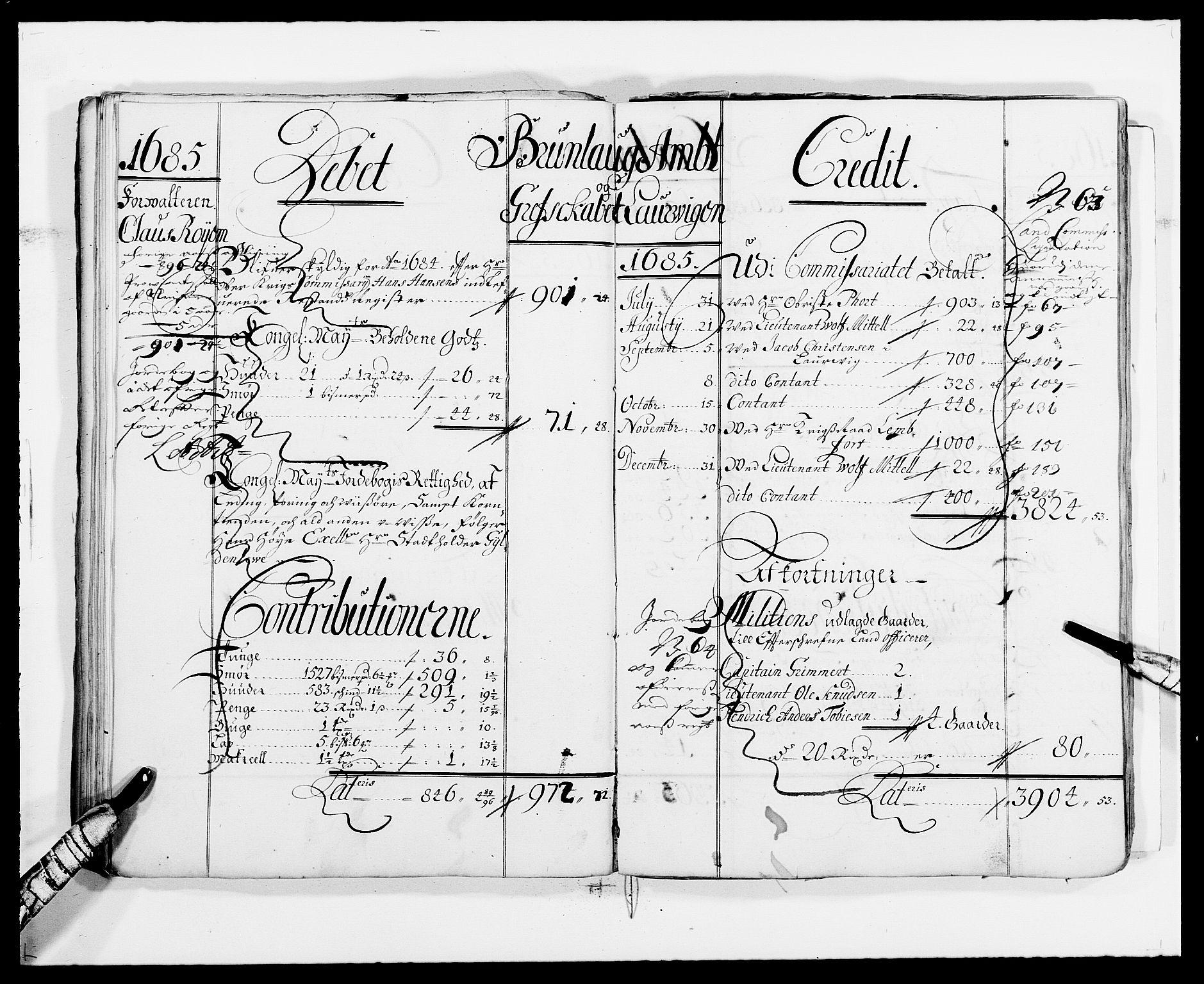 RA, Rentekammeret inntil 1814, Reviderte regnskaper, Fogderegnskap, R33/L1967: Fogderegnskap Larvik grevskap, 1675-1687, s. 62