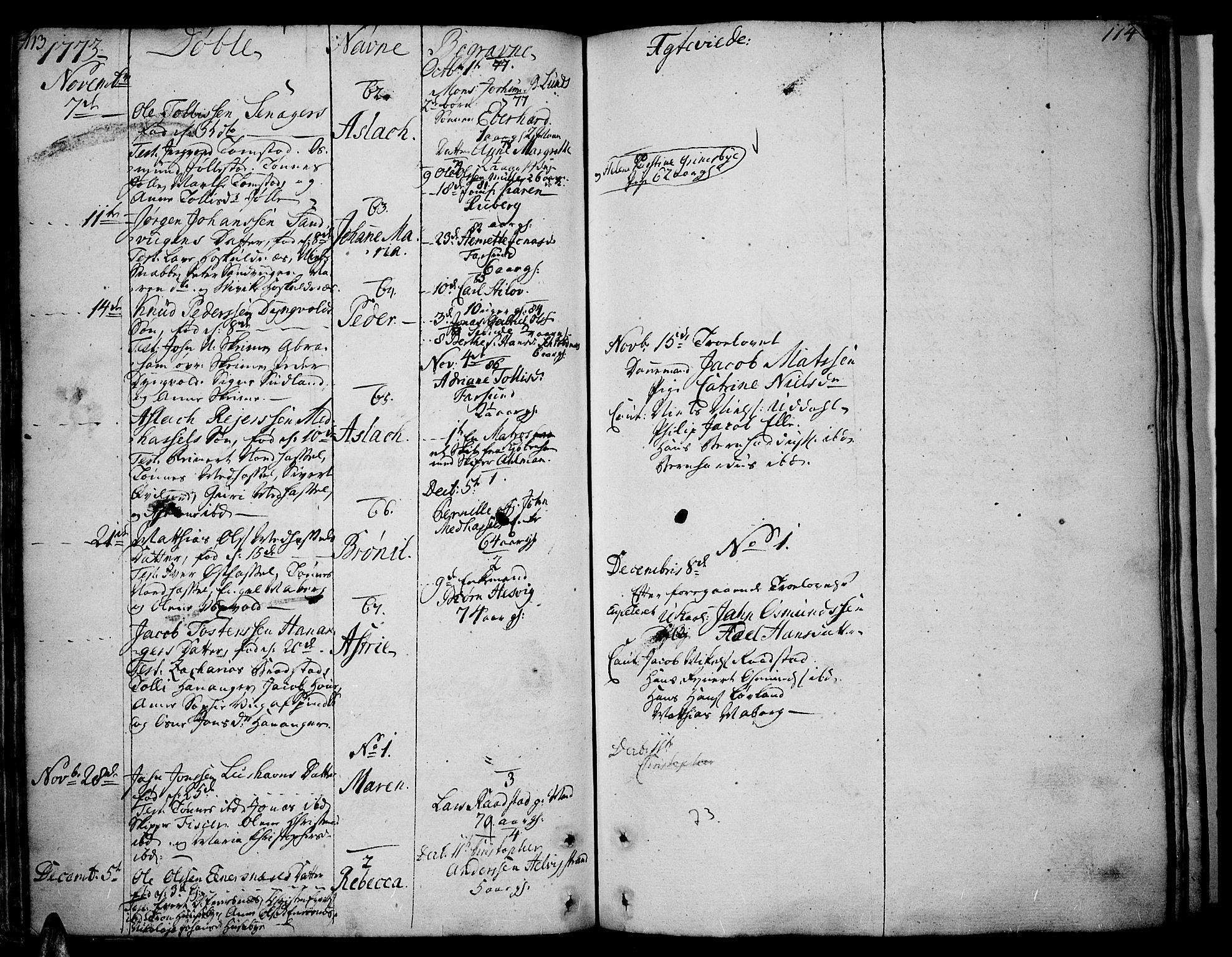 SAK, Lista sokneprestkontor, F/Fa/L0004: Ministerialbok nr. A 4, 1768-1794, s. 113-114