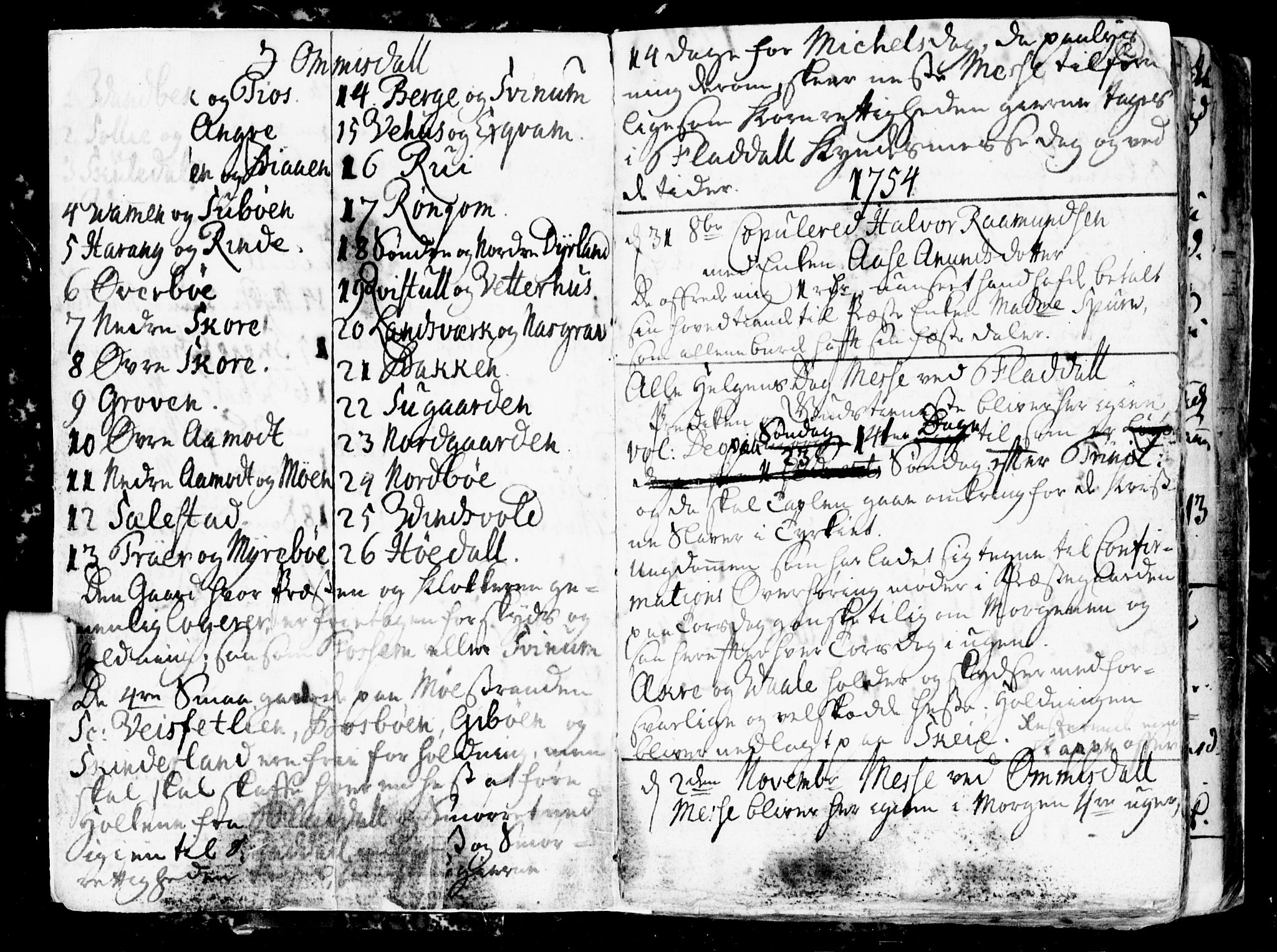 SAKO, Seljord kirkebøker, G/Gb/L0001: Klokkerbok nr. II 1, 1754-1790, s. 1-2