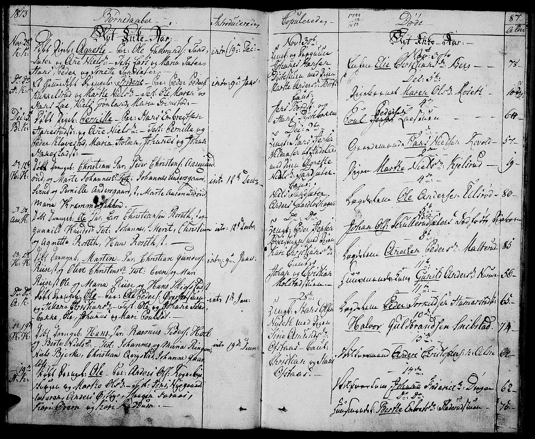 SAH, Toten prestekontor, Ministerialbok nr. 8, 1809-1814, s. 87