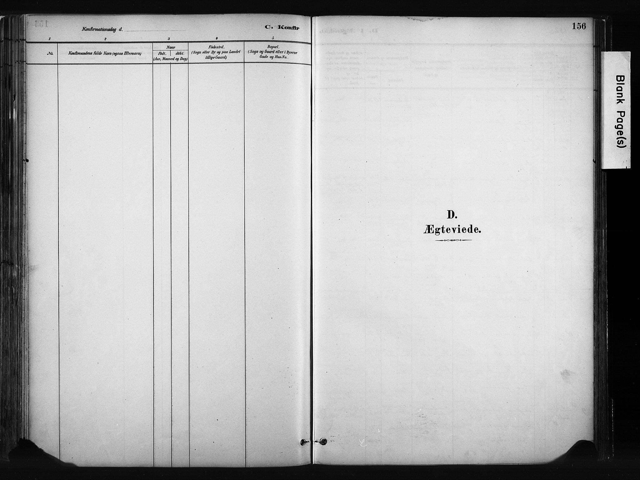 SAH, Vang prestekontor, Valdres, Ministerialbok nr. 8, 1882-1910, s. 156