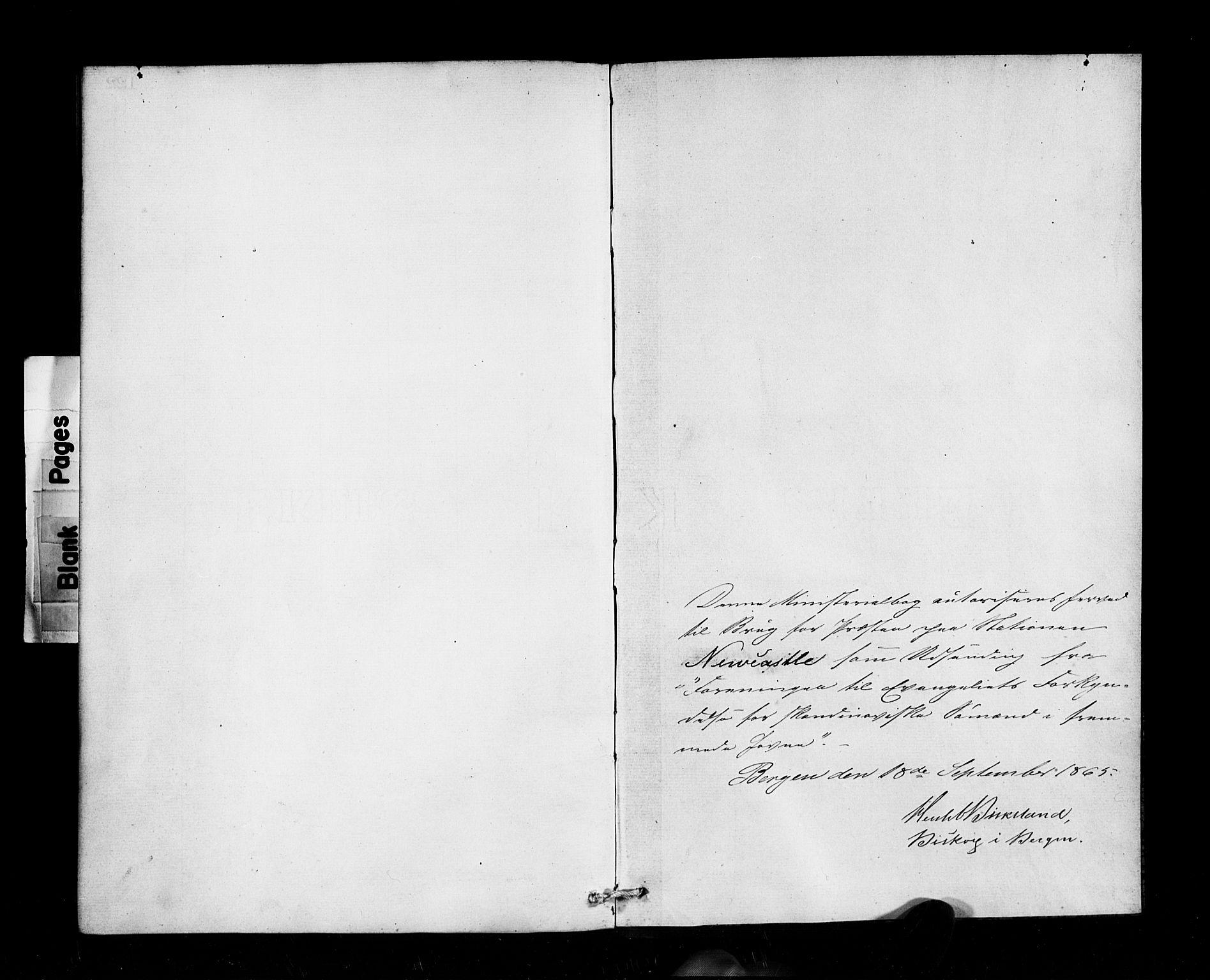 SAB, Den Norske Sjømannsmisjon i utlandet*, Ministerialbok nr. A 1, 1865-1883
