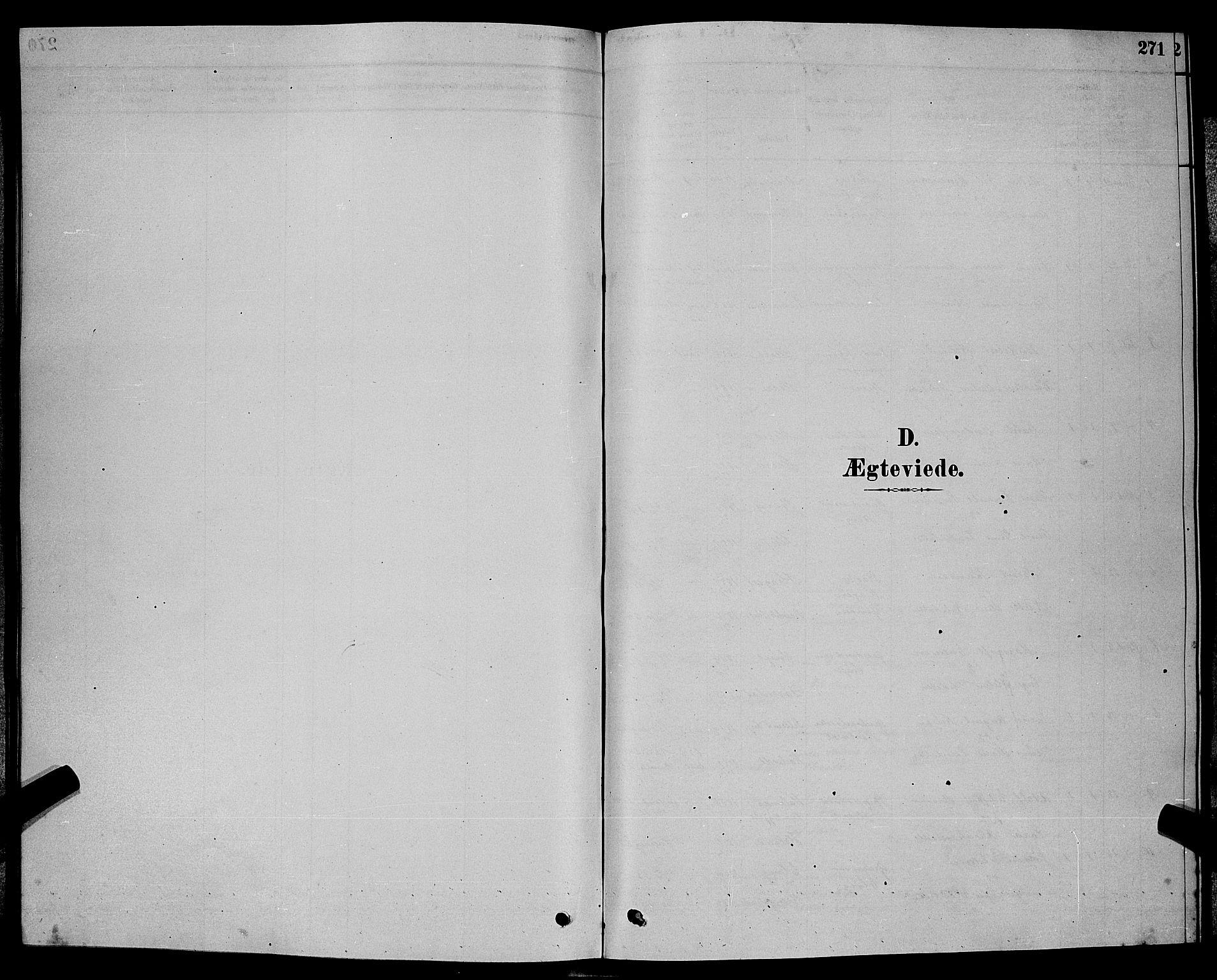 SAKO, Bamble kirkebøker, G/Ga/L0008: Klokkerbok nr. I 8, 1878-1888, s. 271