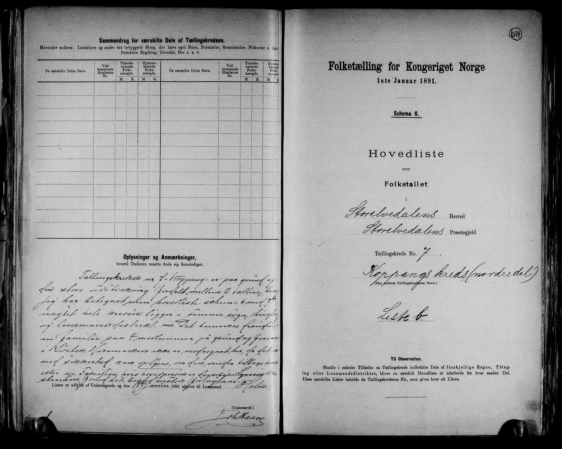 RA, Folketelling 1891 for 0430 Stor-Elvdal herred, 1891, s. 19