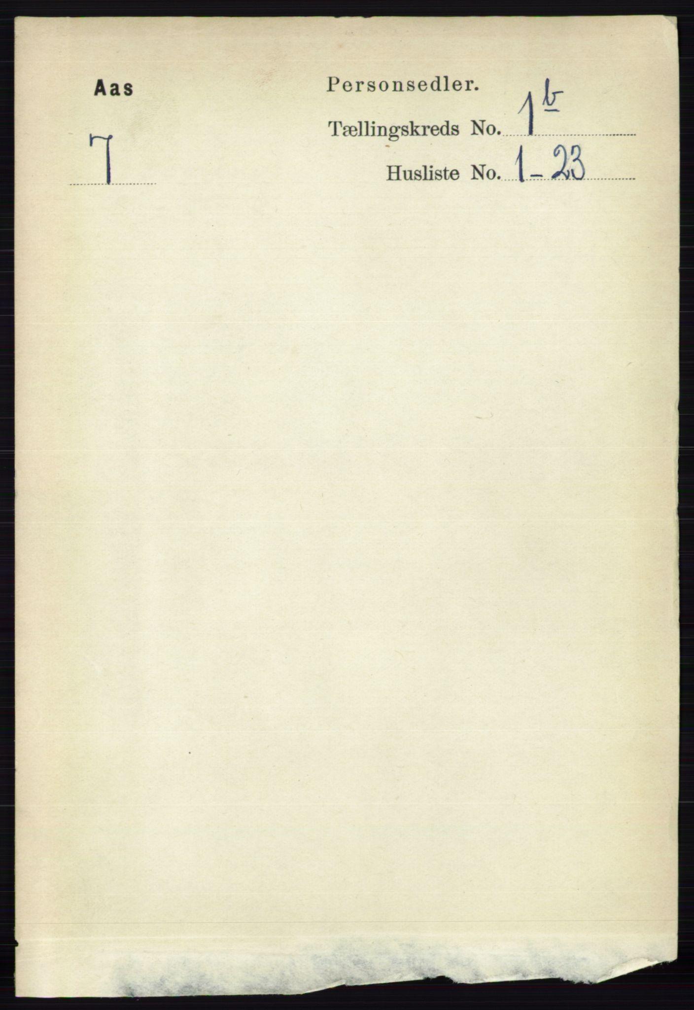 RA, Folketelling 1891 for 0214 Ås herred, 1891, s. 741