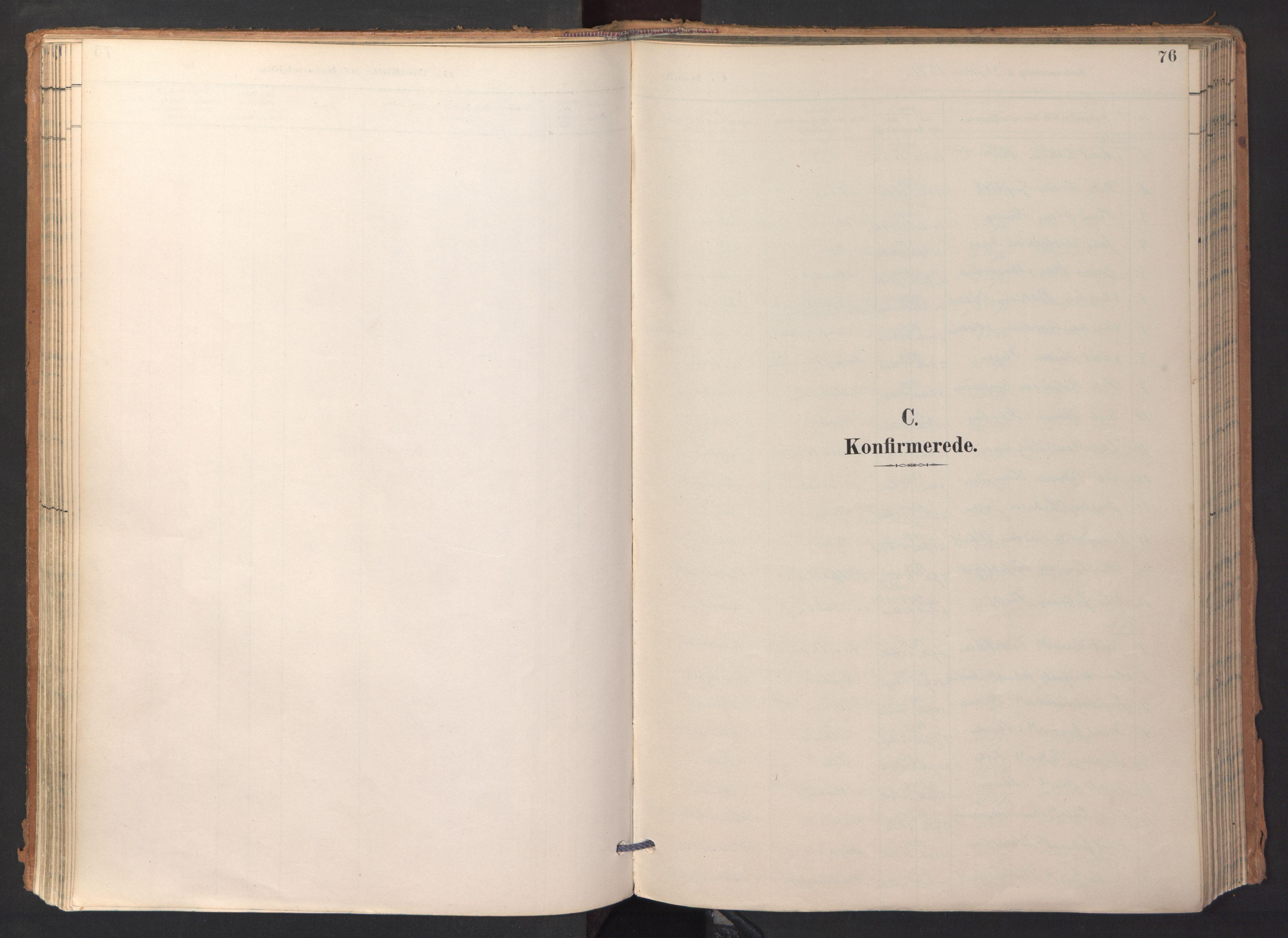 SAT, Ministerialprotokoller, klokkerbøker og fødselsregistre - Sør-Trøndelag, 688/L1025: Ministerialbok nr. 688A02, 1891-1909, s. 76