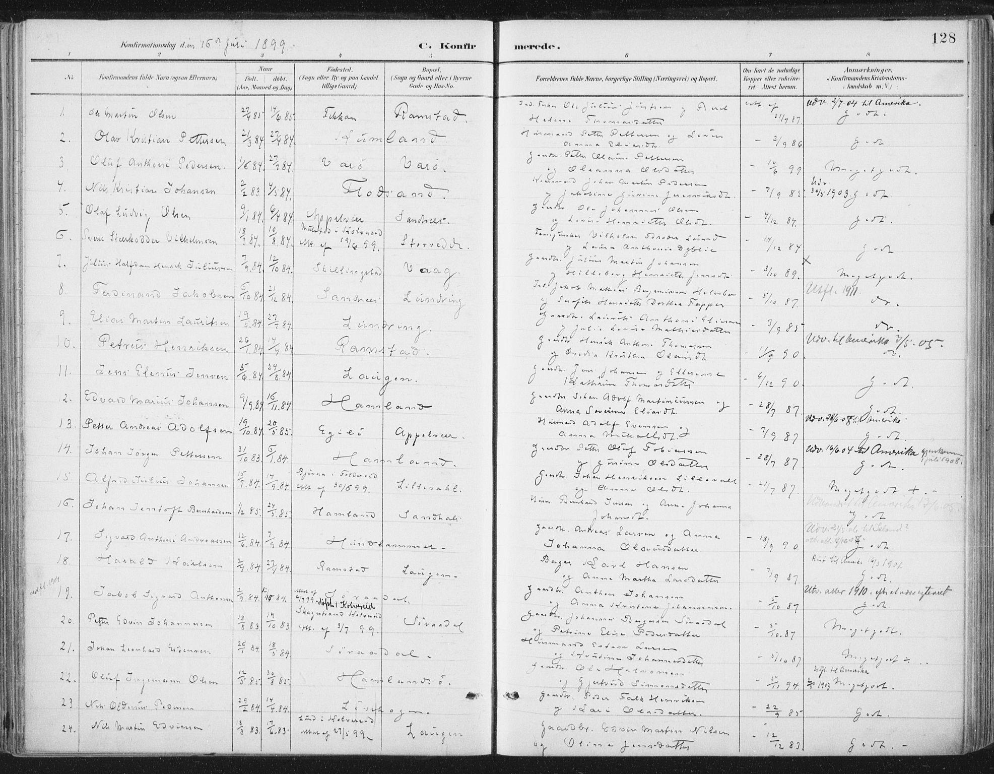 SAT, Ministerialprotokoller, klokkerbøker og fødselsregistre - Nord-Trøndelag, 784/L0673: Ministerialbok nr. 784A08, 1888-1899, s. 128