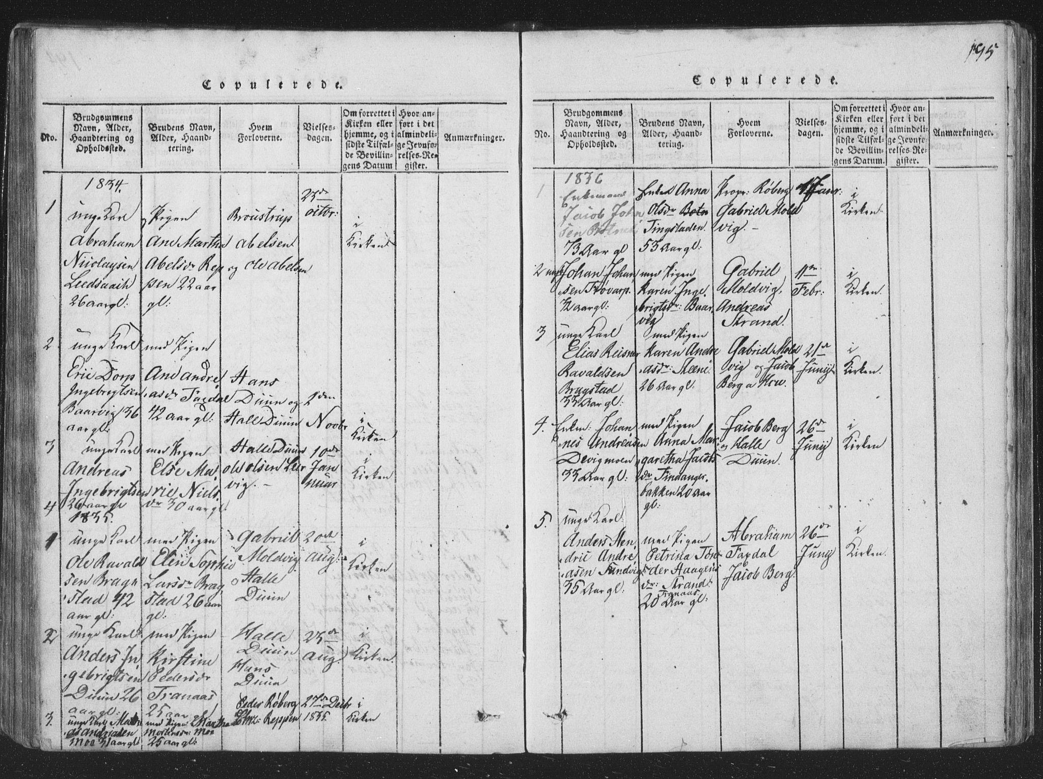 SAT, Ministerialprotokoller, klokkerbøker og fødselsregistre - Nord-Trøndelag, 773/L0613: Ministerialbok nr. 773A04, 1815-1845, s. 195