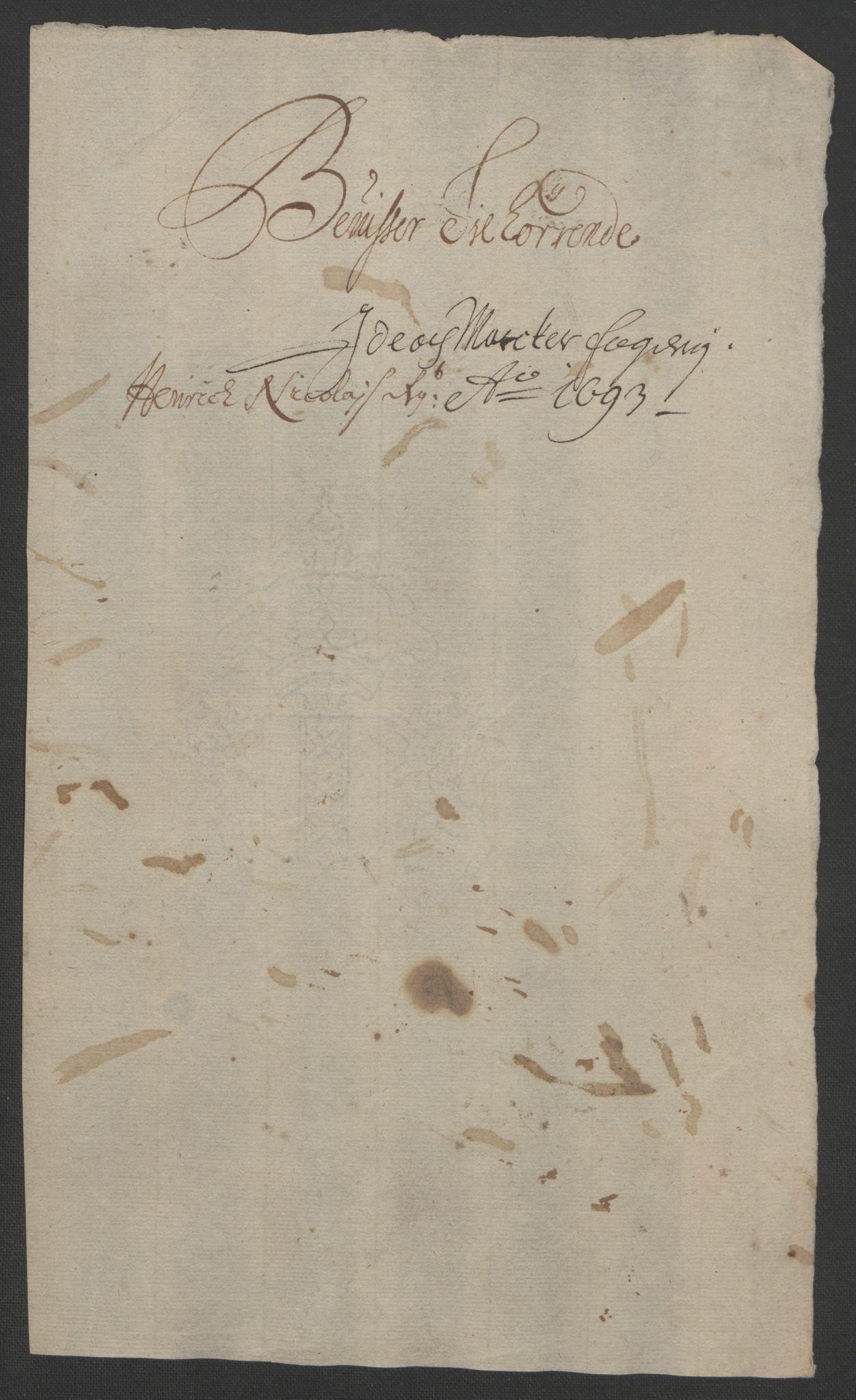 RA, Rentekammeret inntil 1814, Reviderte regnskaper, Fogderegnskap, R01/L0011: Fogderegnskap Idd og Marker, 1692-1693, s. 210