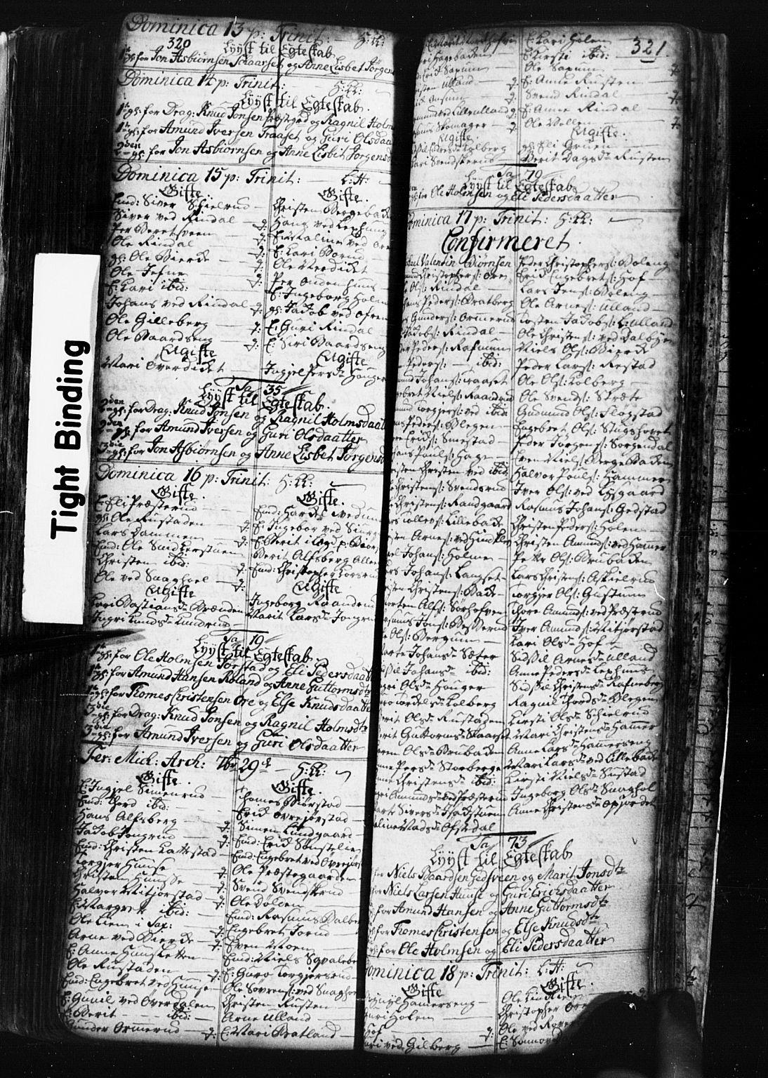 SAH, Fåberg prestekontor, Klokkerbok nr. 1, 1727-1767, s. 320-321