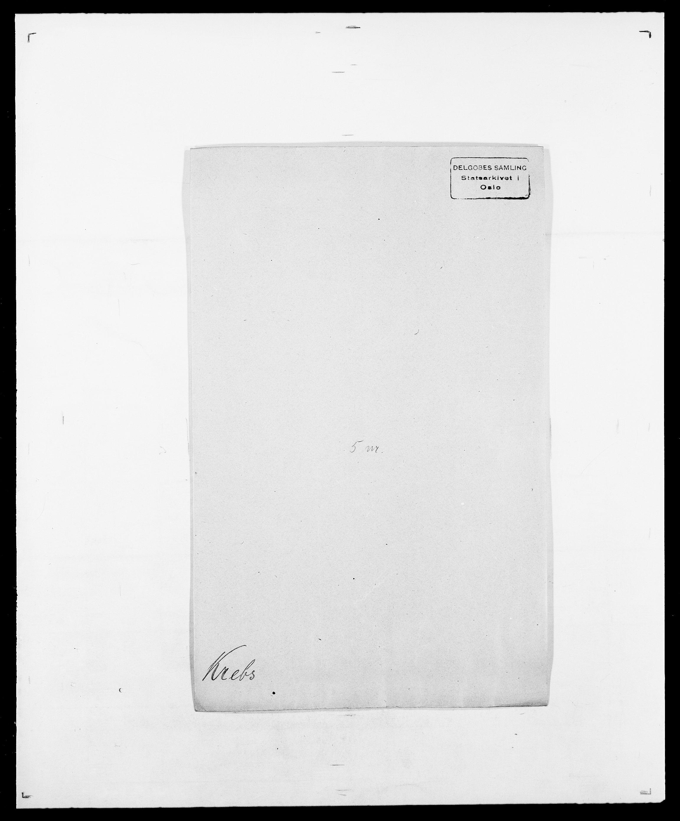 SAO, Delgobe, Charles Antoine - samling, D/Da/L0021: Klagenberg - Kristoft, s. 738