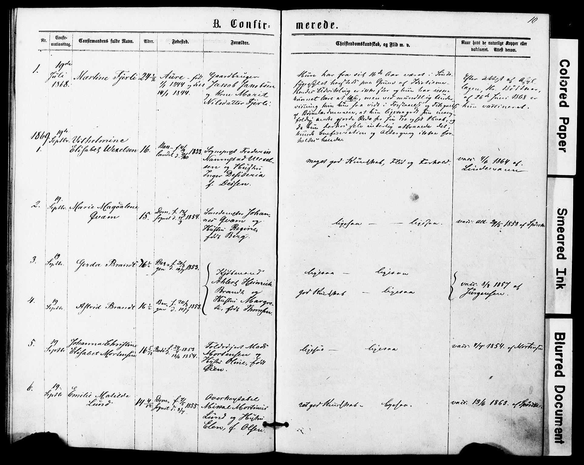 SAT, Ministerialprotokoller, klokkerbøker og fødselsregistre - Sør-Trøndelag, 623/L0469: Ministerialbok nr. 623A03, 1868-1883, s. 10