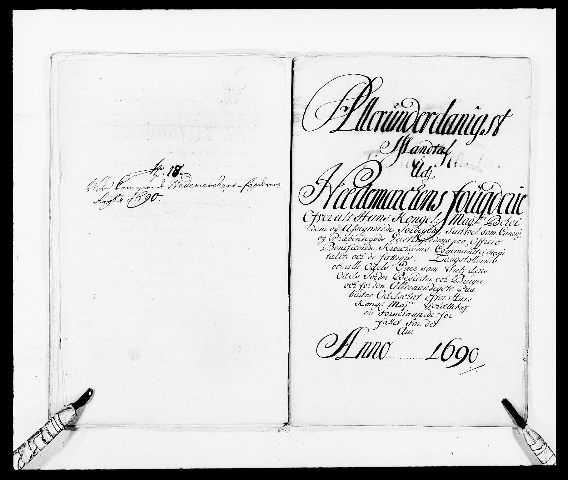 RA, Rentekammeret inntil 1814, Reviderte regnskaper, Fogderegnskap, R16/L1031: Fogderegnskap Hedmark, 1689-1692, s. 246