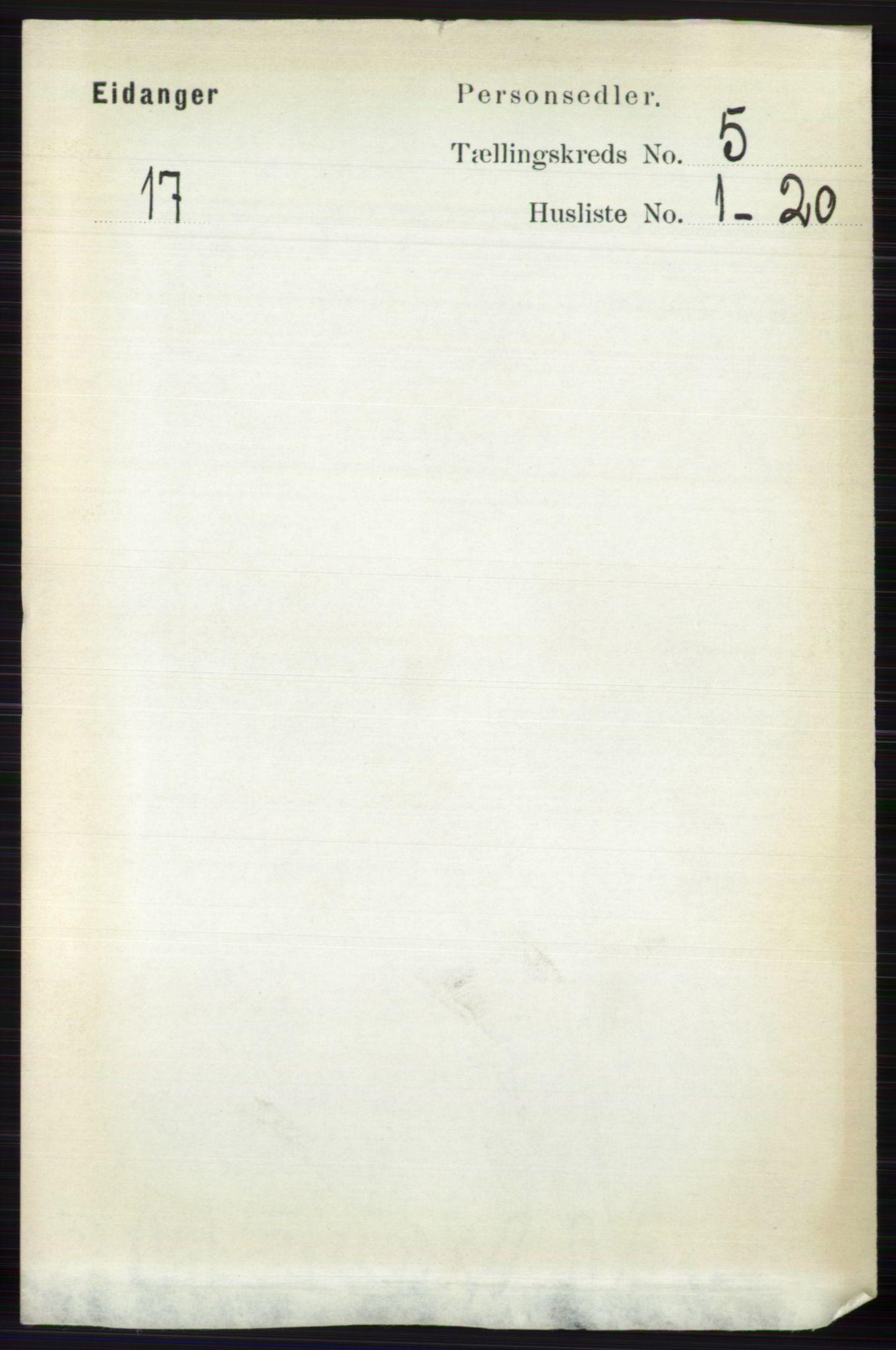 RA, Folketelling 1891 for 0813 Eidanger herred, 1891, s. 2270
